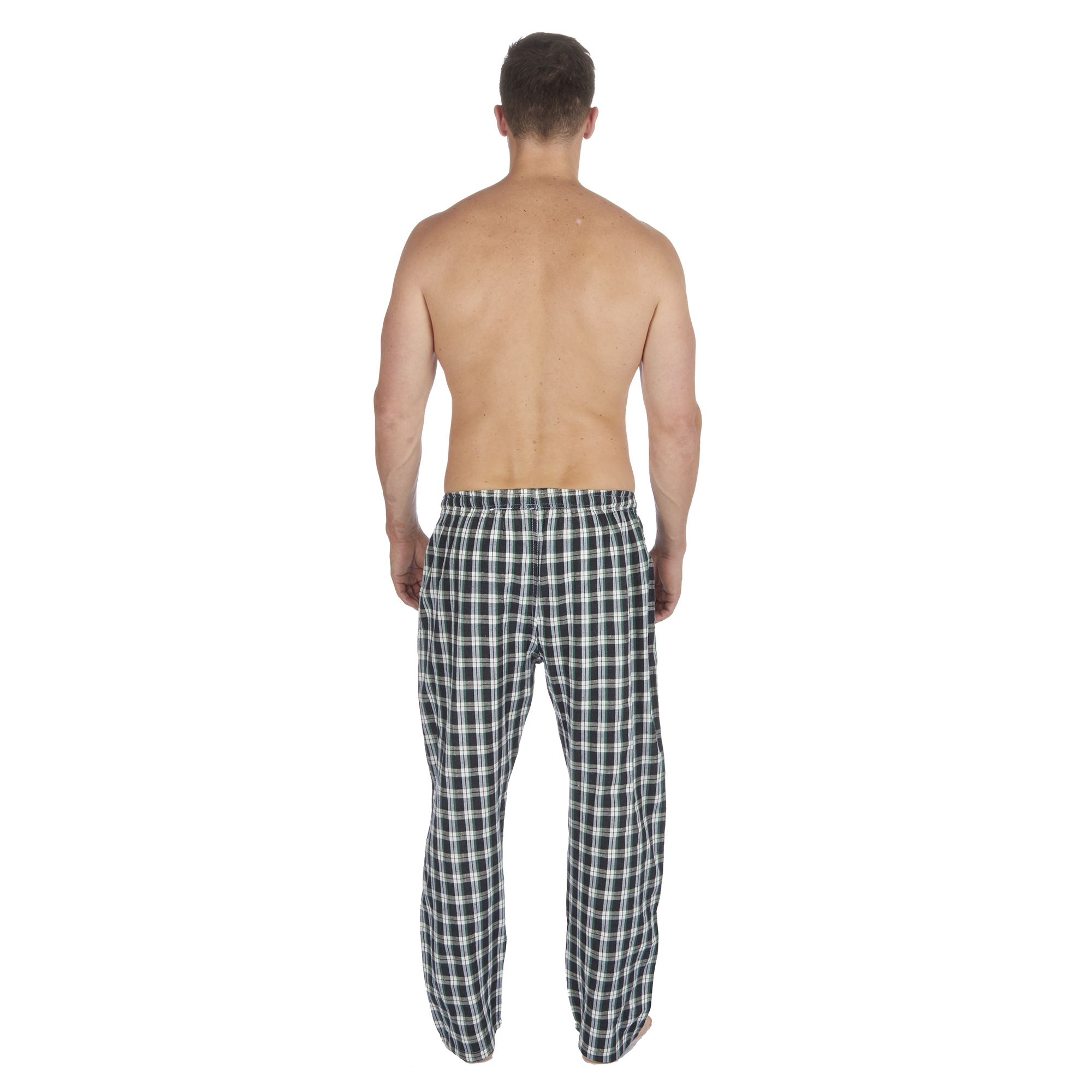 Jason-Jones-Homme-Carreaux-Tisse-Pyjama-Pantalon-en-Coton-Melange-Serge-PJ-Lounge-Pants miniature 13