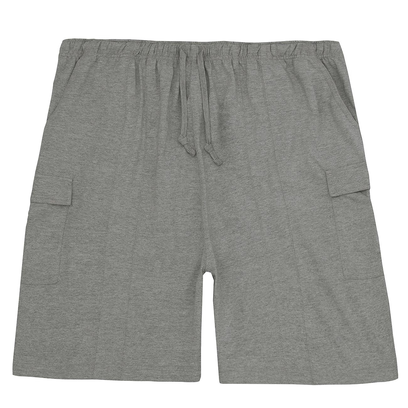 Pantaloncini da Uomo Cargo in jersey morbido elastico in vita con tasca Grosso Alto Taglie 3XL-5XL
