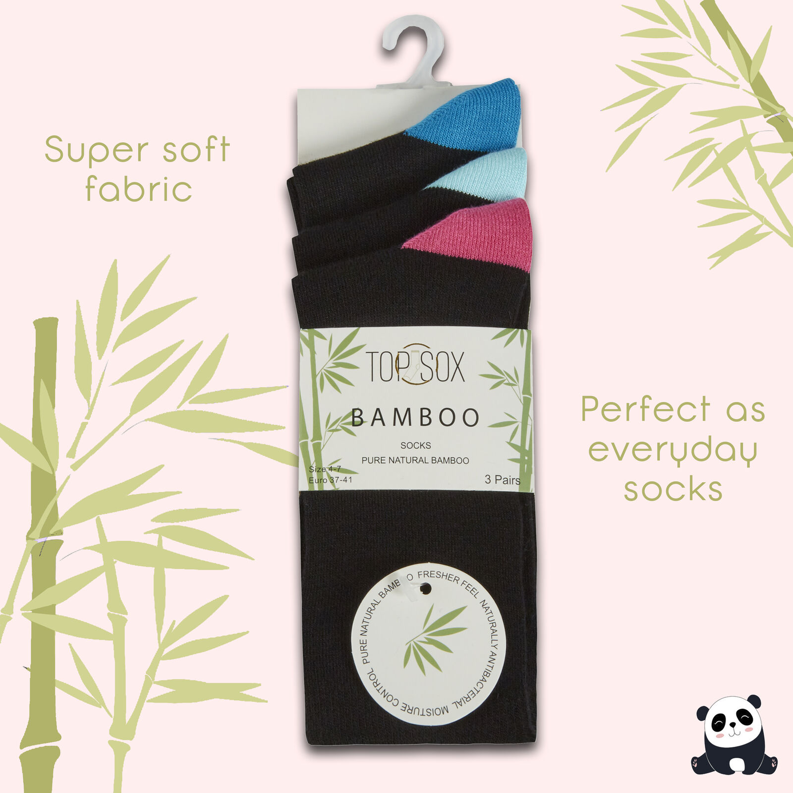 Women/'s Ladies Super Soft Bamboo Socks Gentle Stretchy Anti Bacterial Size 4-7