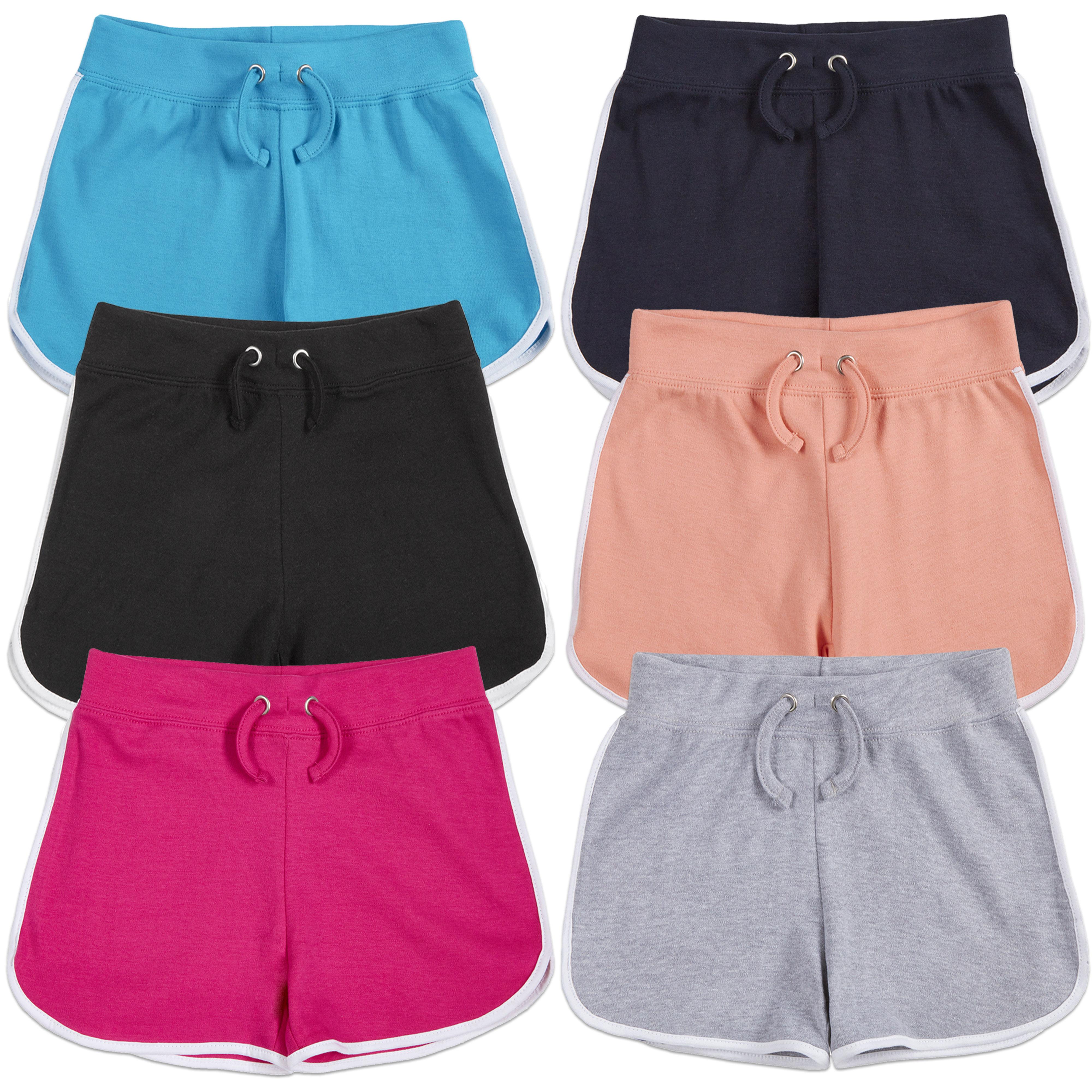 Red Melon Girls 100/% Cotton Retro Stripe Shorts