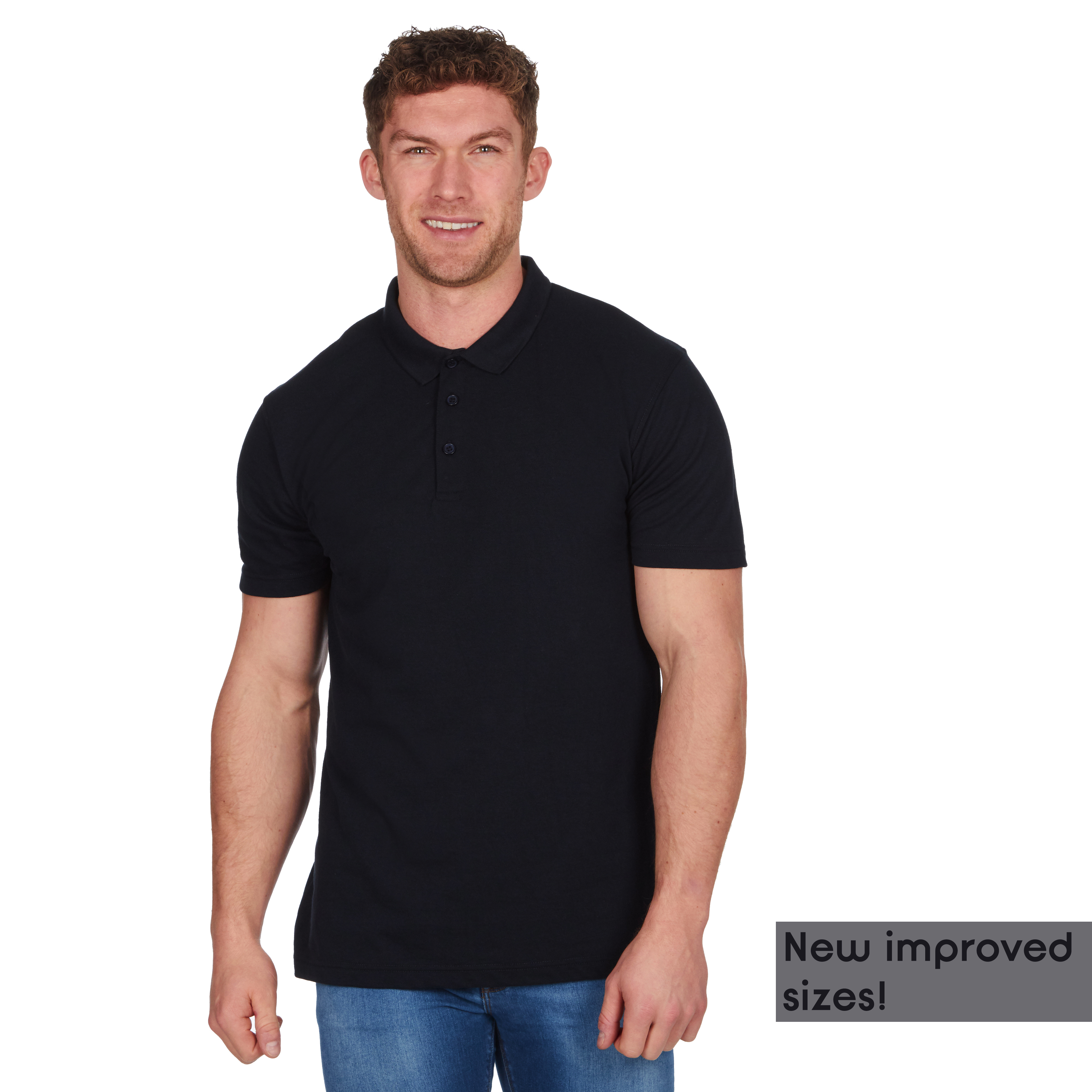 Mens-Classic-Polo-Top-Plus-Size-T-Shirt-Plain-Shirt-Big-And-Tall-Short-Sleeve thumbnail 13