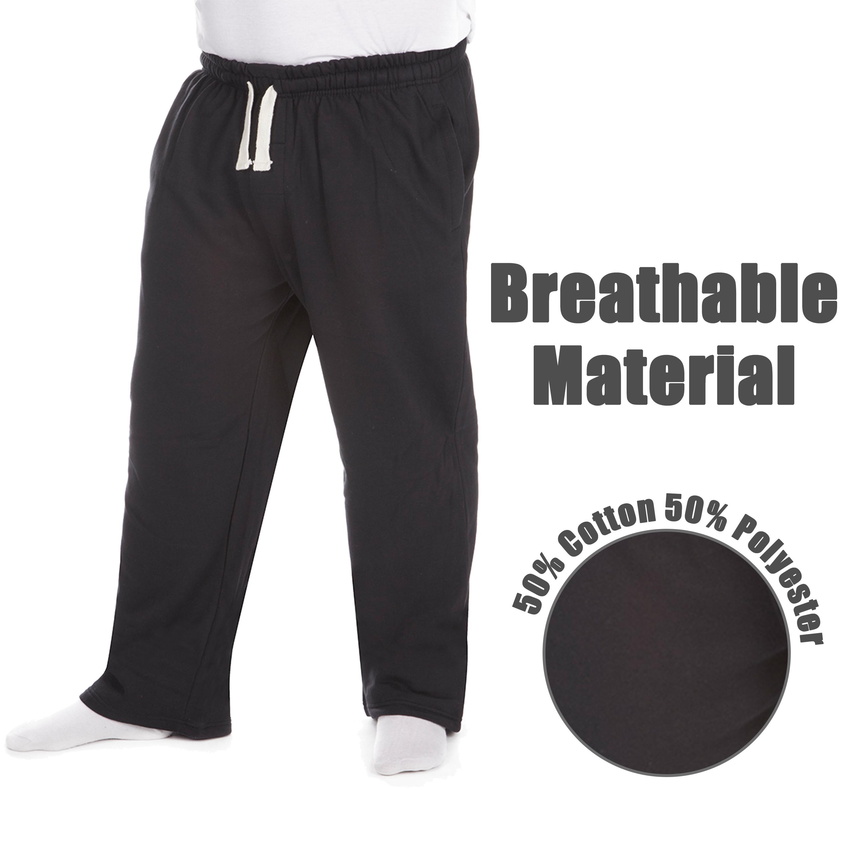 Men-039-s-Plus-Size-Jogging-Bottoms-Sudare-Pantaloni-Da-Jogging-Pantaloni-Orlo-a-manichetta-taglia miniatura 5
