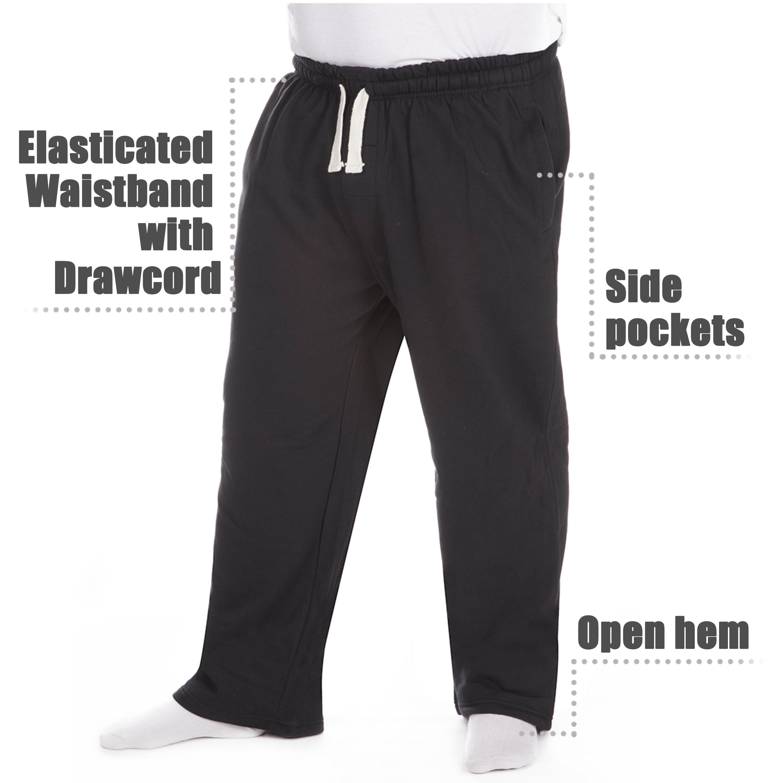 Men-039-s-Plus-Size-Jogging-Bottoms-Sudare-Pantaloni-Da-Jogging-Pantaloni-Orlo-a-manichetta-taglia miniatura 4
