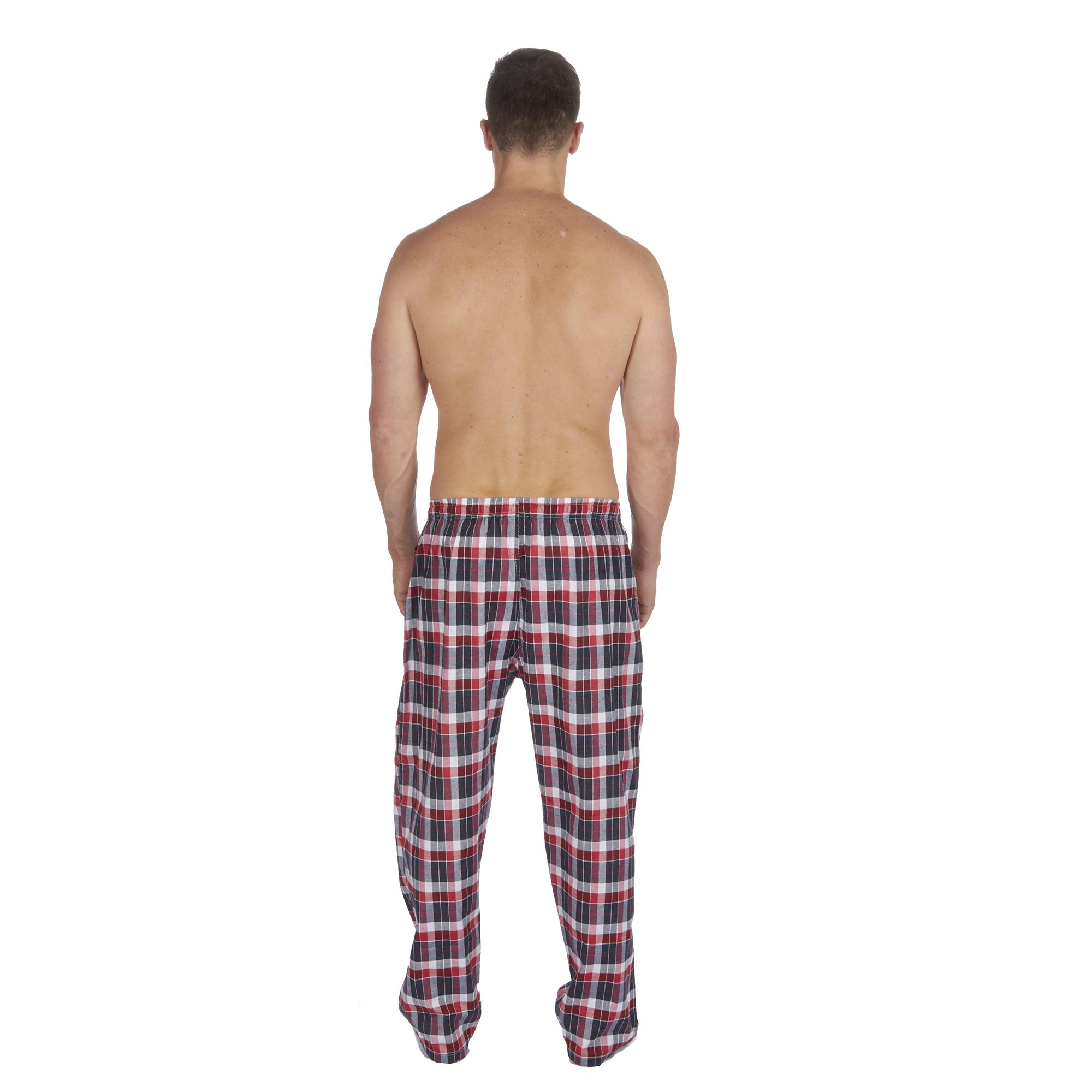 Jason-Jones-Homme-Carreaux-Tisse-Pyjama-Pantalon-en-Coton-Melange-Serge-PJ-Lounge-Pants miniature 26