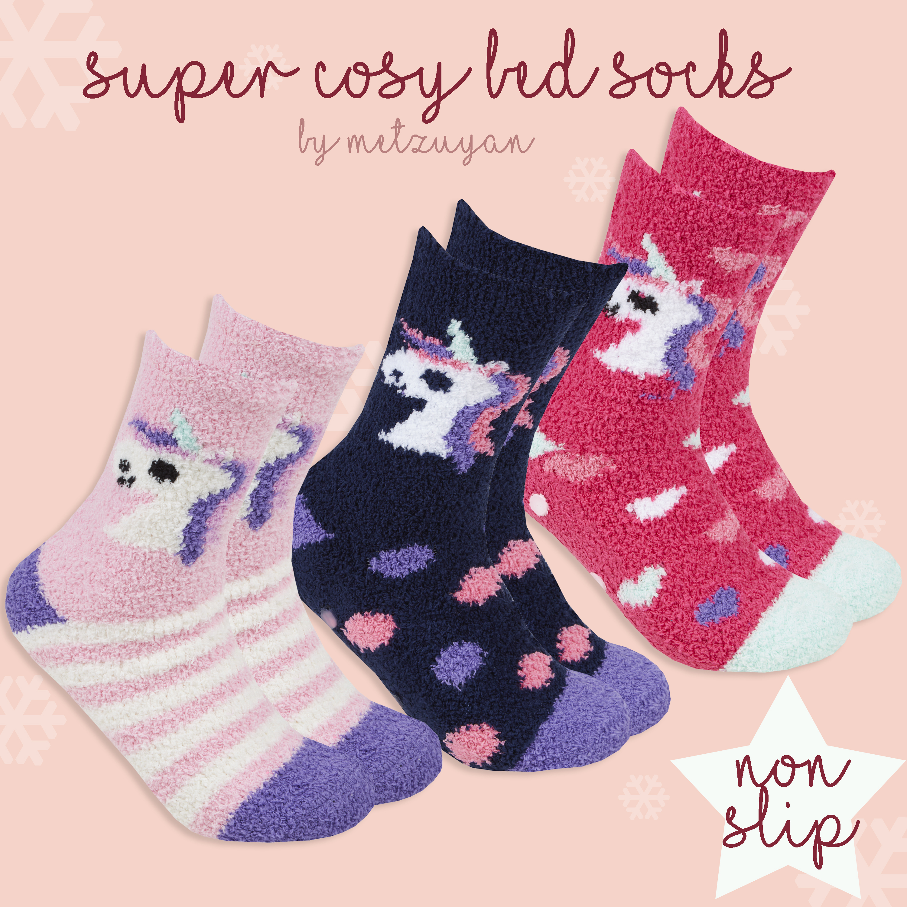 Womens Ladies Cosy Sleep Bed Socks Soft Extra Warm Brushed Non Slip Gripper Sole