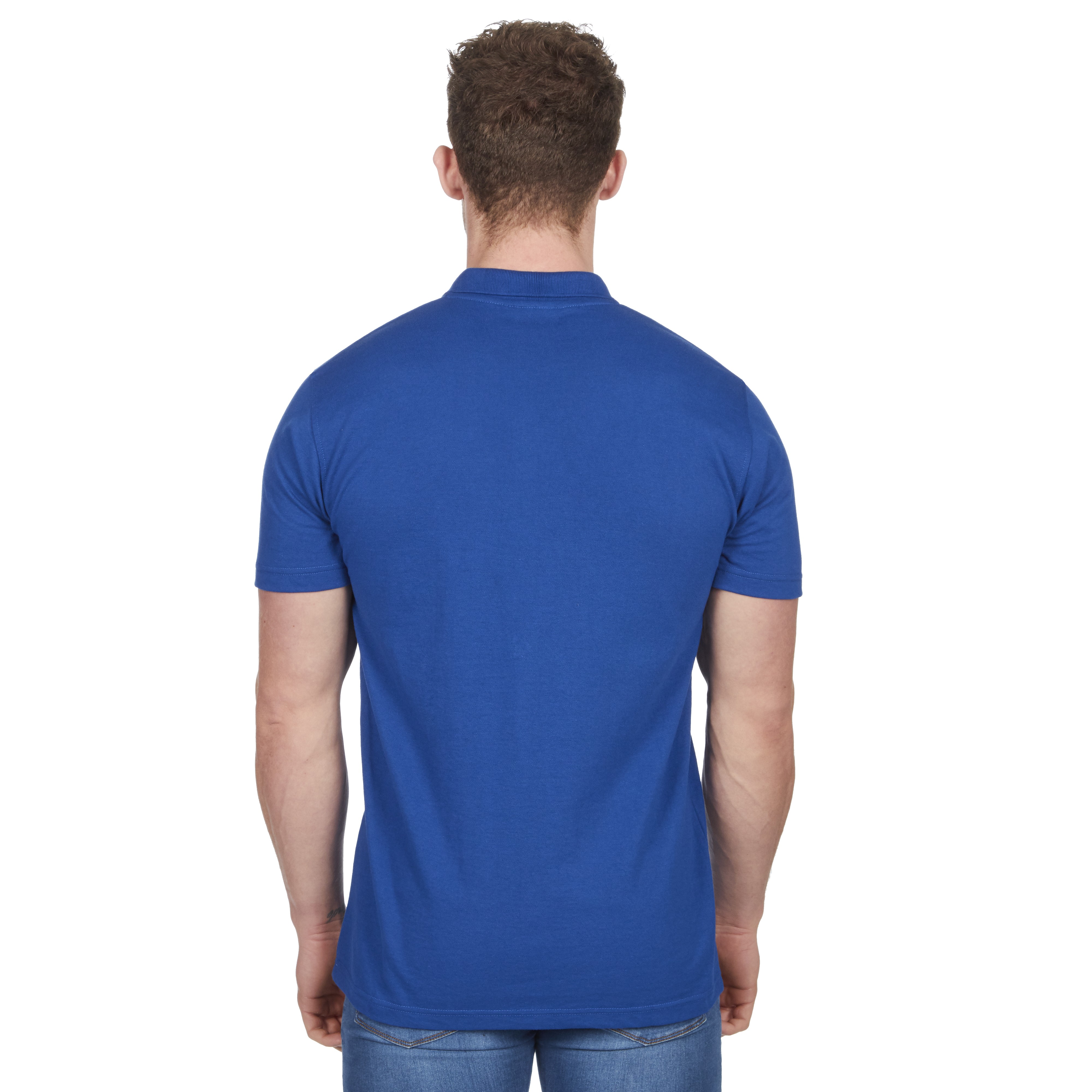 Mens-Classic-Polo-Top-Plus-Size-T-Shirt-Plain-Shirt-Big-And-Tall-Short-Sleeve thumbnail 45