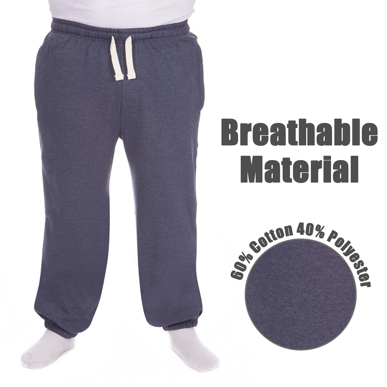 Men-039-s-Plus-Size-Jogging-Bottoms-Sudare-Pantaloni-Da-Jogging-Pantaloni-Orlo-a-manichetta-taglia miniatura 24