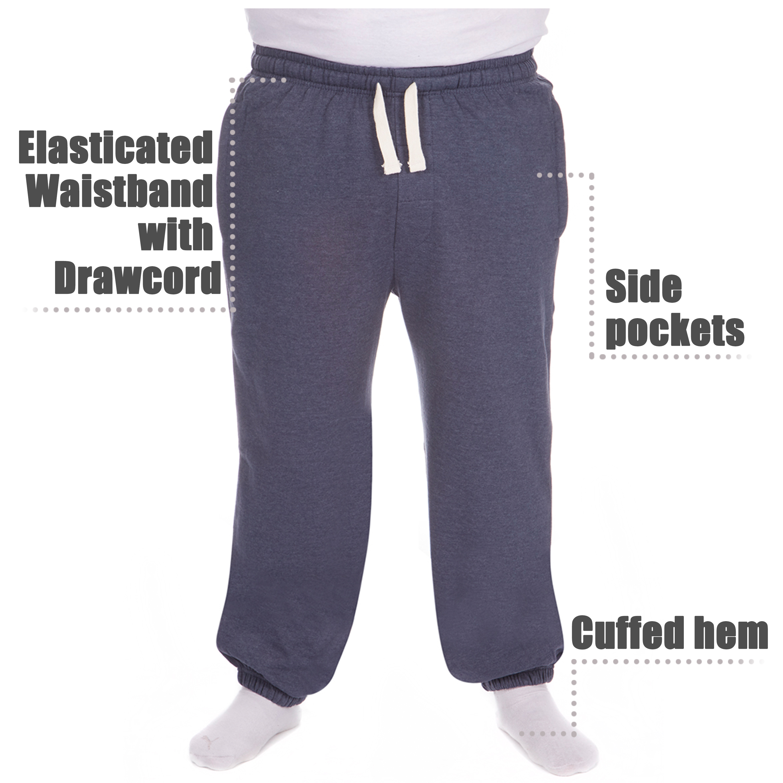 Men-039-s-Plus-Size-Jogging-Bottoms-Sudare-Pantaloni-Da-Jogging-Pantaloni-Orlo-a-manichetta-taglia miniatura 23