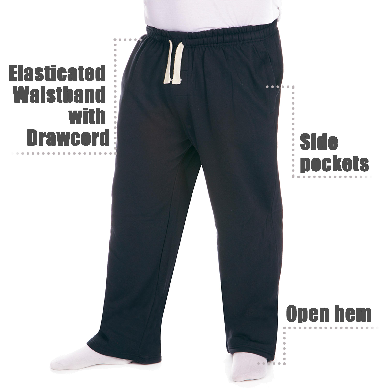 Men-039-s-Plus-Size-Jogging-Bottoms-Sudare-Pantaloni-Da-Jogging-Pantaloni-Orlo-a-manichetta-taglia miniatura 10
