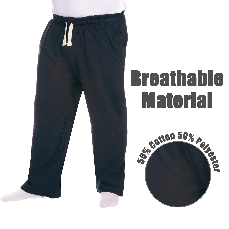Men-039-s-Plus-Size-Jogging-Bottoms-Sudare-Pantaloni-Da-Jogging-Pantaloni-Orlo-a-manichetta-taglia miniatura 11