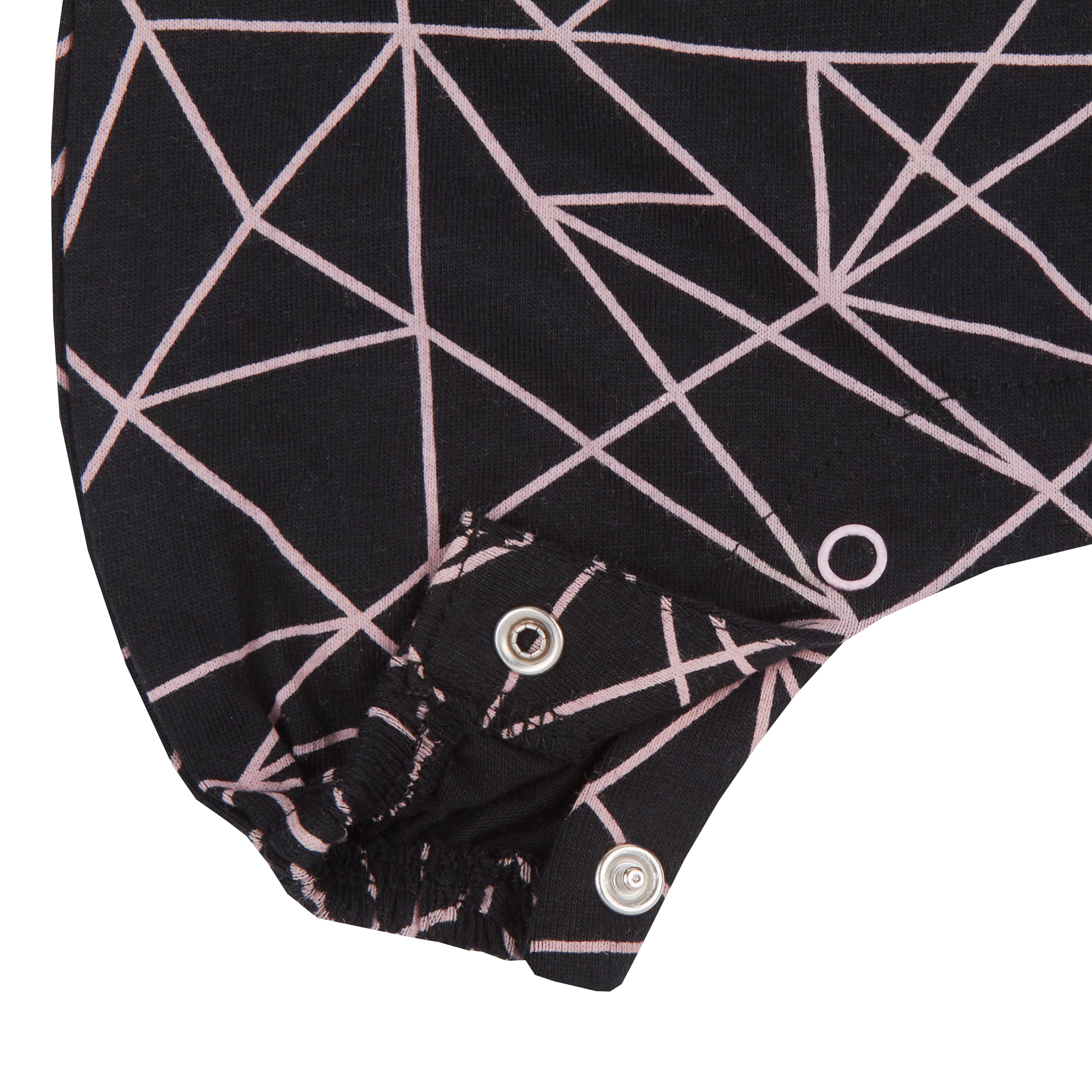 Bébé Filles Combi coton motifs géométriques Combinaison Ange Tenue sans manches Bandeau