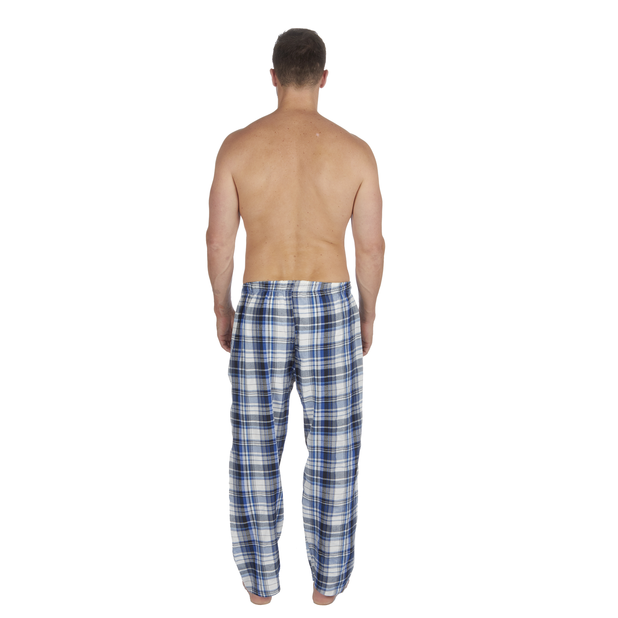Jason-Jones-Homme-Carreaux-Tisse-Pyjama-Pantalon-en-Coton-Melange-Serge-PJ-Lounge-Pants miniature 19