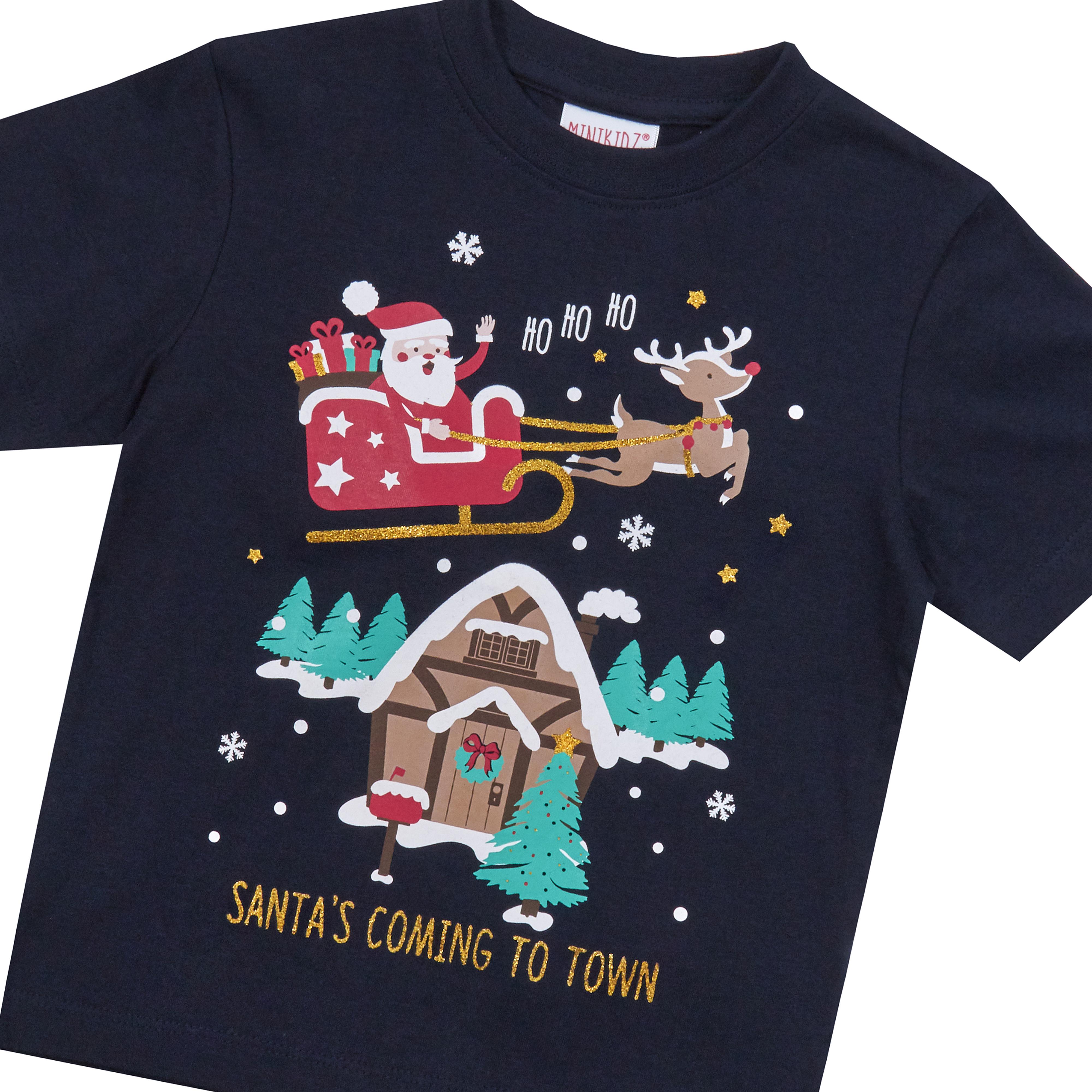 Childrens-Girls-Boys-Xmas-T-Shirts-Printed-Christmas-Design-100-Cotton-2-13-Yrs thumbnail 16