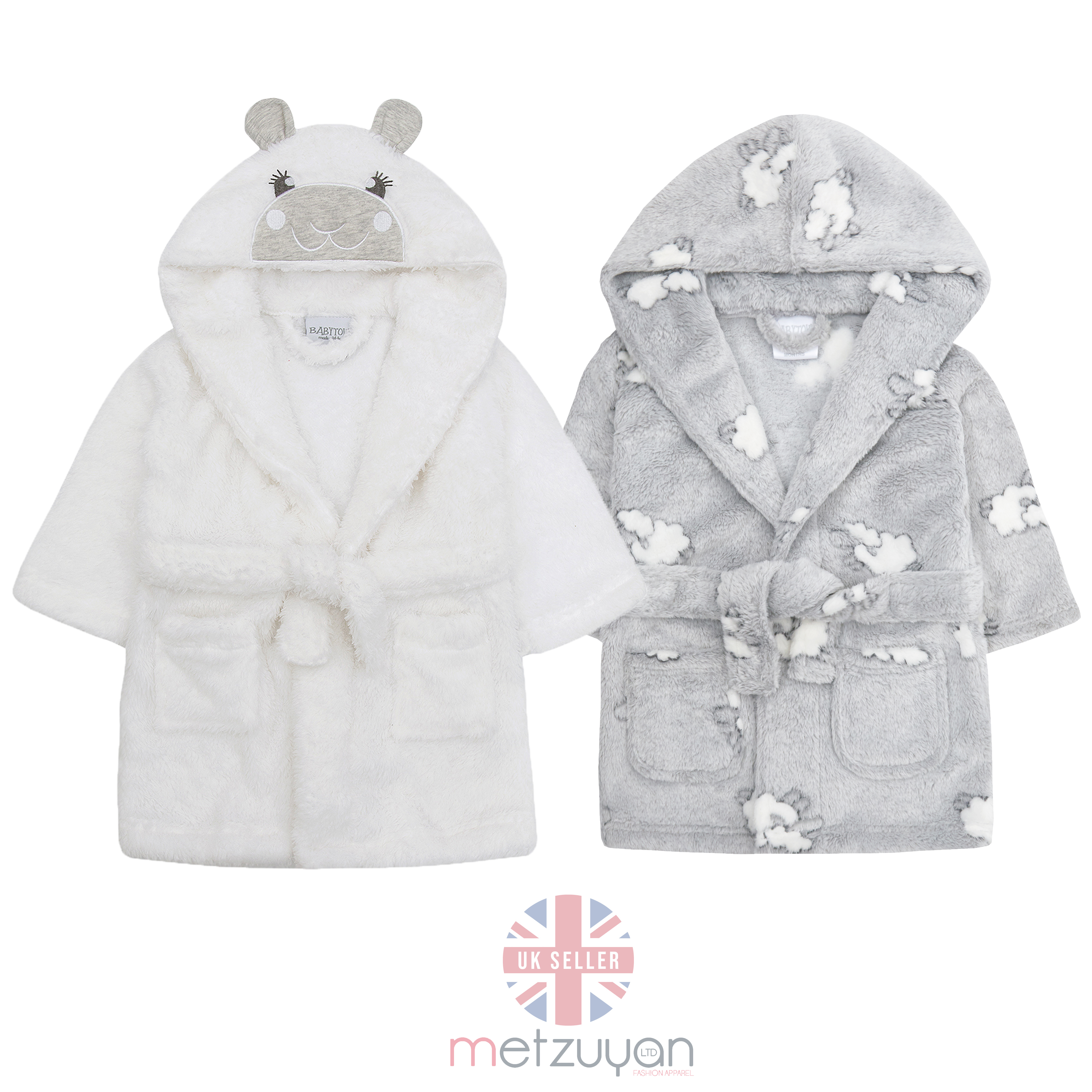 Metzuyan Baby Boys /& Girls Lamb Novelty Hooded Dressing Gown