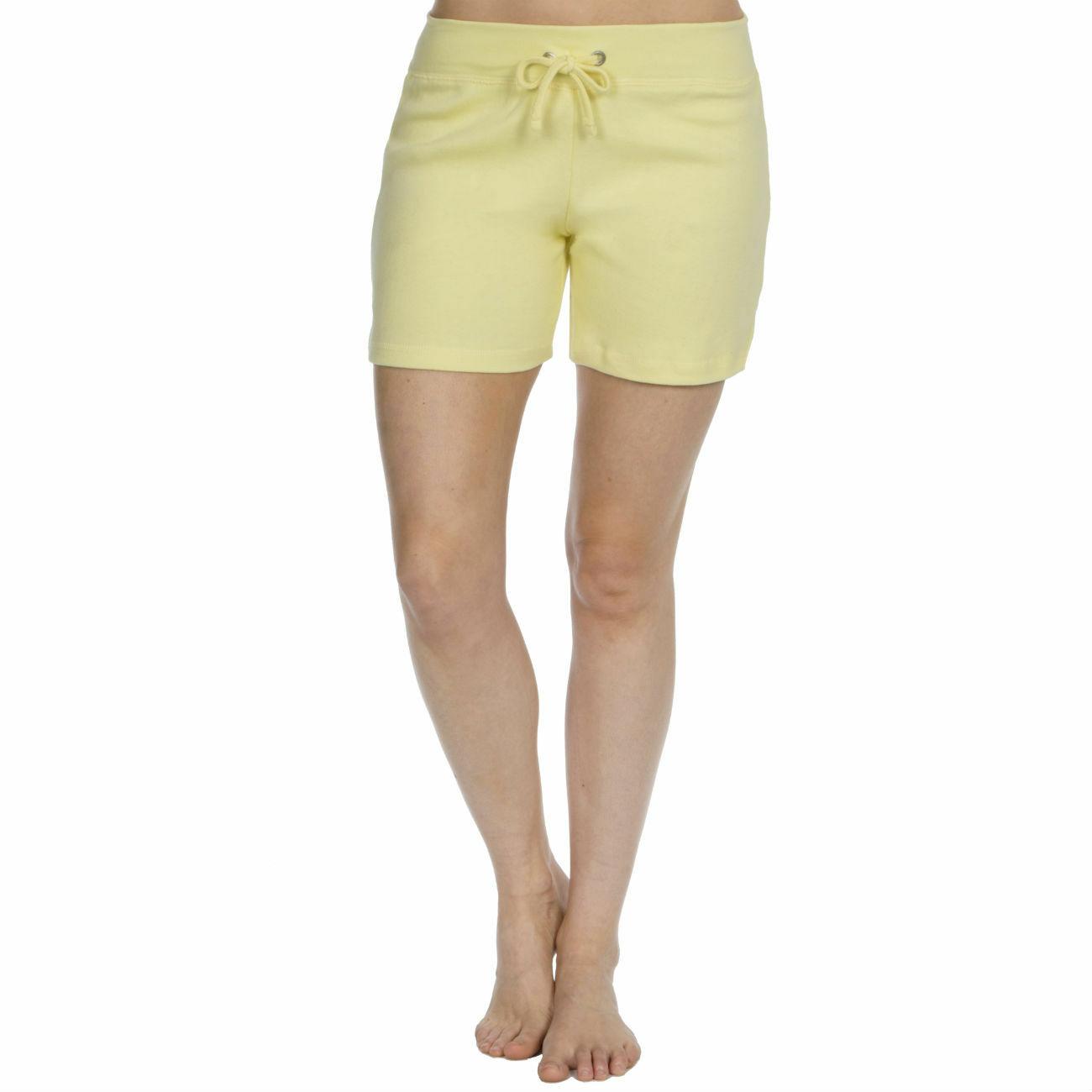 Womens-Cotton-Jersey-Shorts-Elastic-Waist-Summer-Beach-Casual-Yoga-Hot-Pants-New thumbnail 39