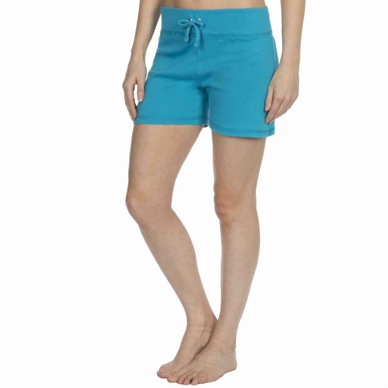 Womens-Cotton-Jersey-Shorts-Elastic-Waist-Summer-Beach-Casual-Yoga-Hot-Pants-New thumbnail 25