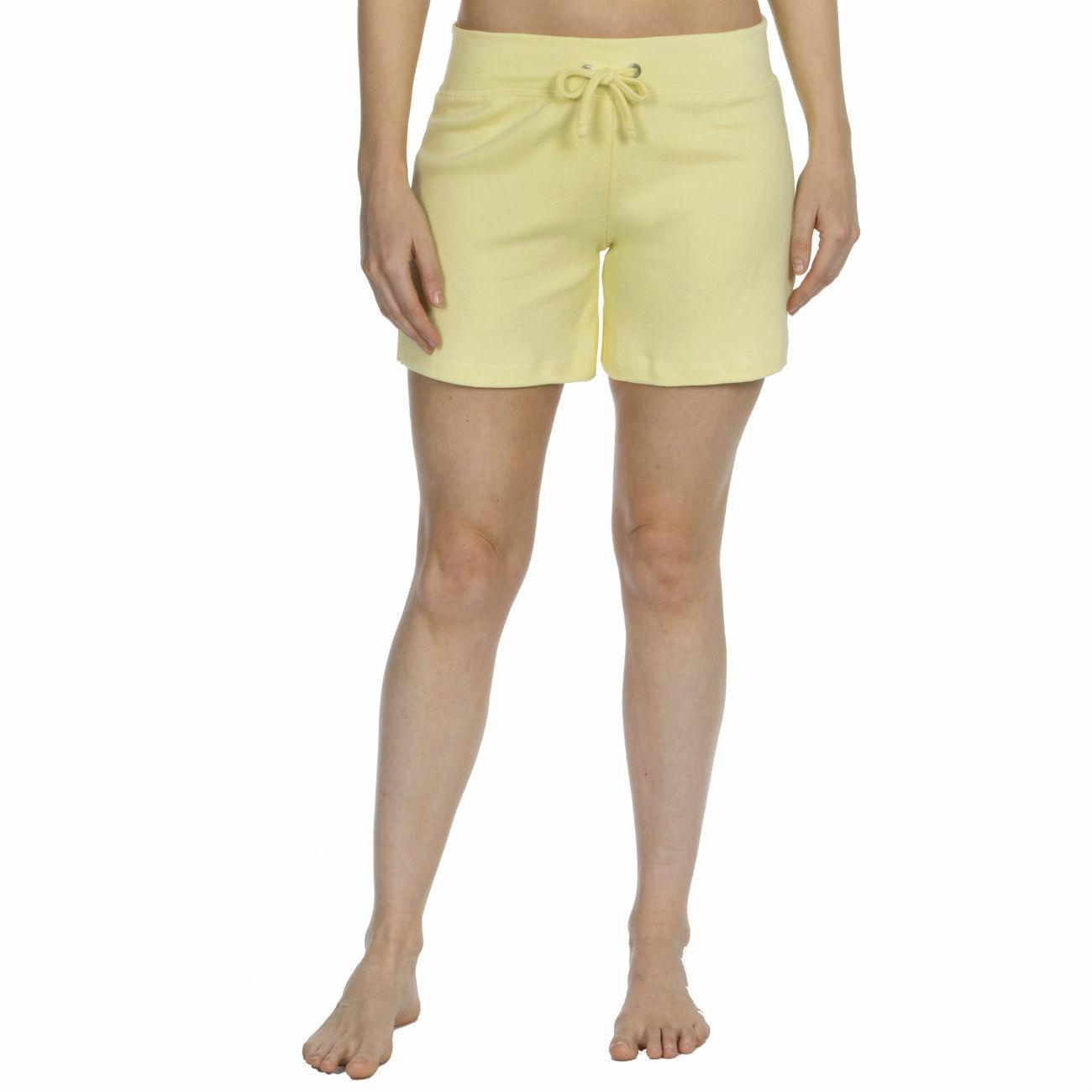 Womens-Cotton-Jersey-Shorts-Elastic-Waist-Summer-Beach-Casual-Yoga-Hot-Pants-New thumbnail 40