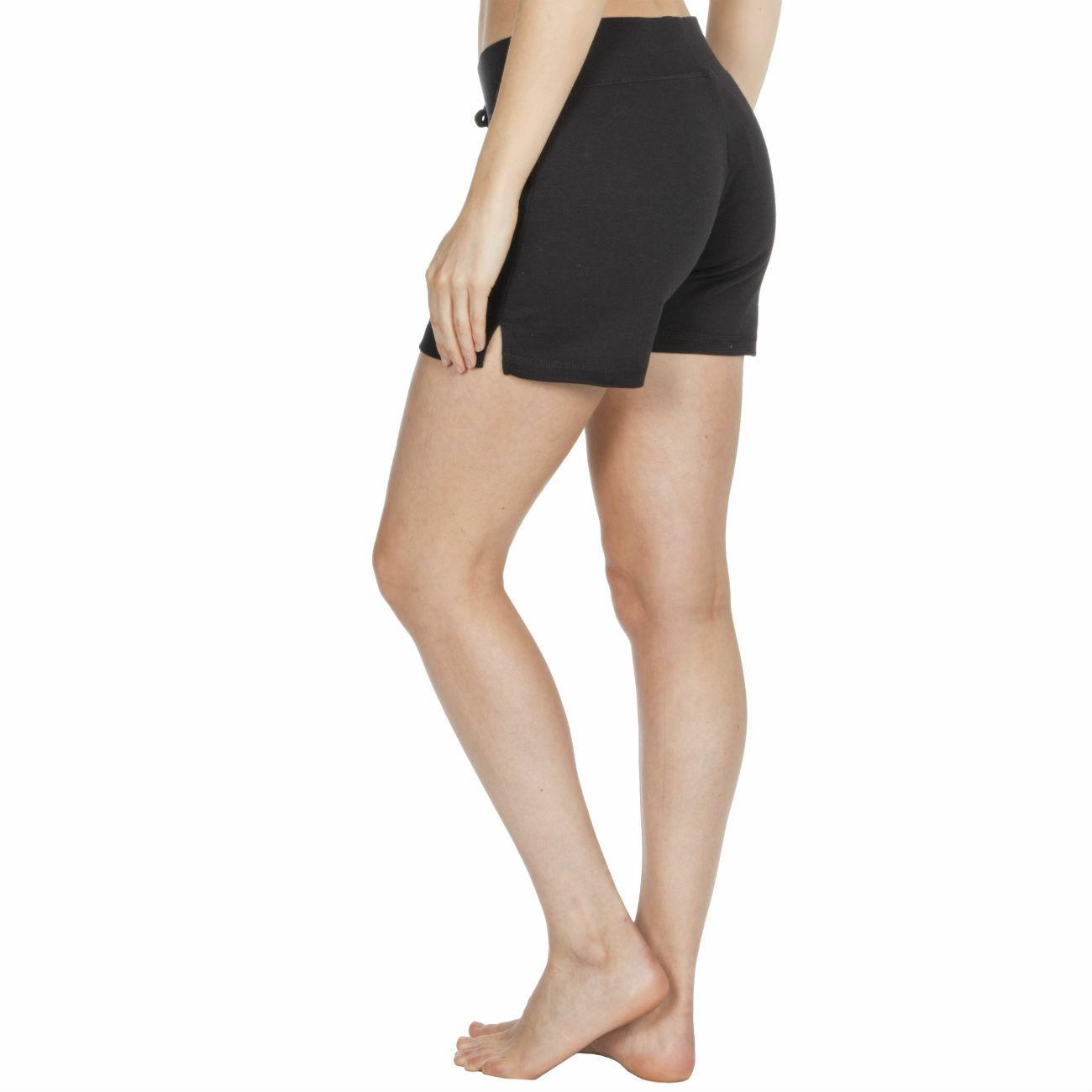 Womens-Cotton-Jersey-Shorts-Elastic-Waist-Summer-Beach-Casual-Yoga-Hot-Pants-New thumbnail 5