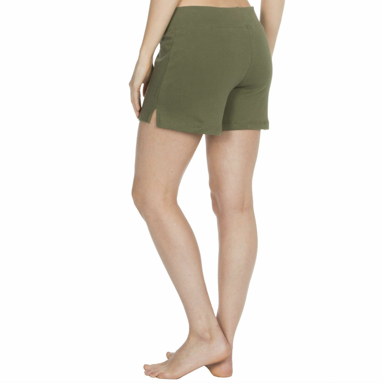 Womens-Cotton-Jersey-Shorts-Elastic-Waist-Summer-Beach-Casual-Yoga-Hot-Pants-New thumbnail 22
