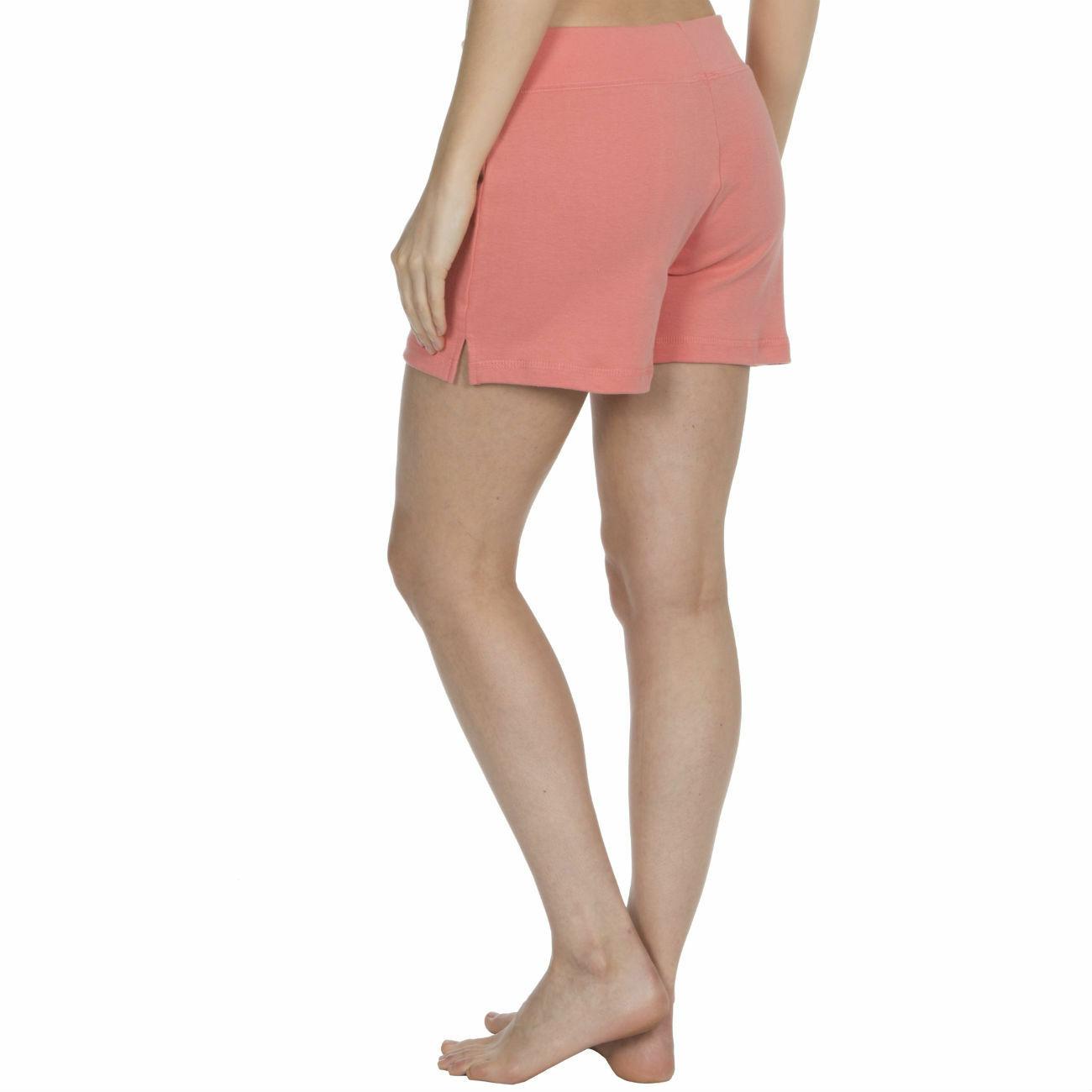 Womens-Cotton-Jersey-Shorts-Elastic-Waist-Summer-Beach-Casual-Yoga-Hot-Pants-New thumbnail 37