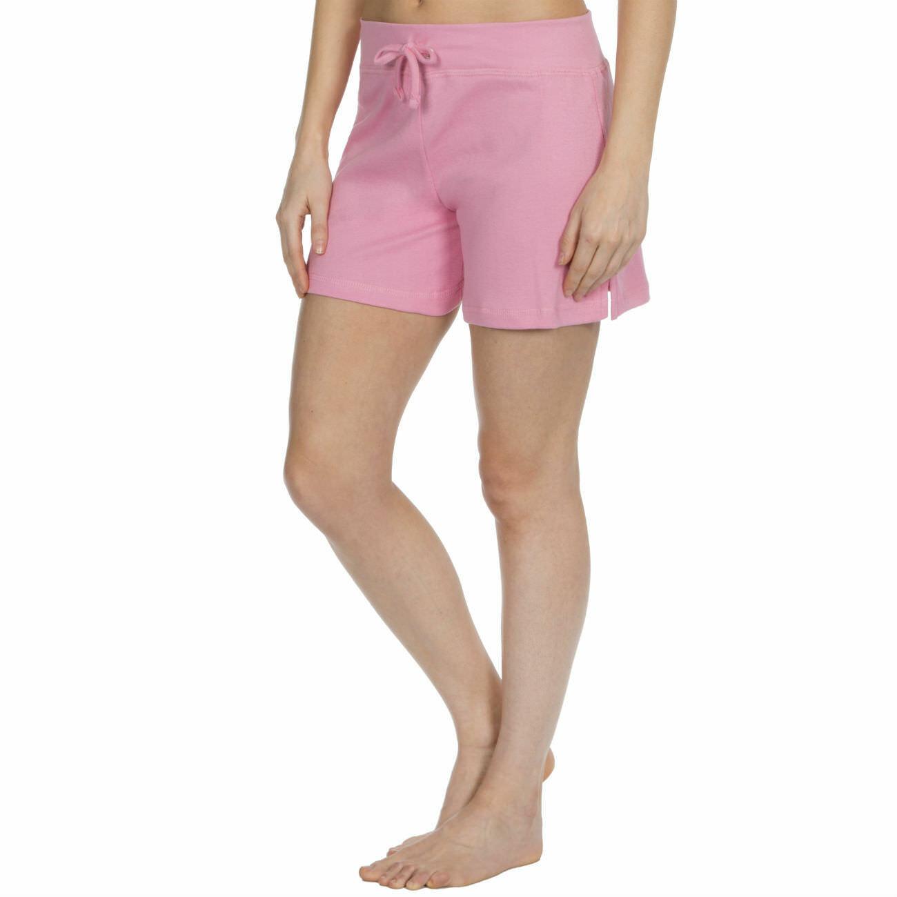 Womens-Cotton-Jersey-Shorts-Elastic-Waist-Summer-Beach-Casual-Yoga-Hot-Pants-New thumbnail 17