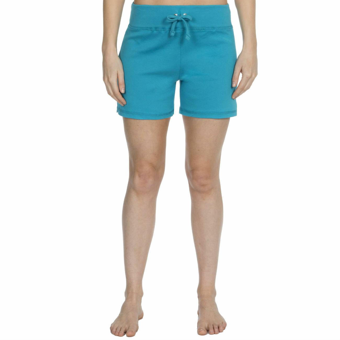 Womens-Cotton-Jersey-Shorts-Elastic-Waist-Summer-Beach-Casual-Yoga-Hot-Pants-New thumbnail 24