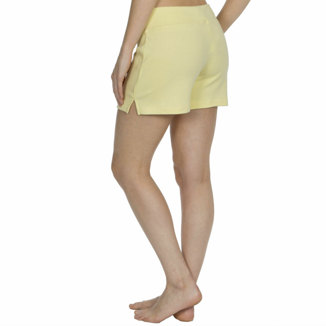 Womens-Cotton-Jersey-Shorts-Elastic-Waist-Summer-Beach-Casual-Yoga-Hot-Pants-New thumbnail 41