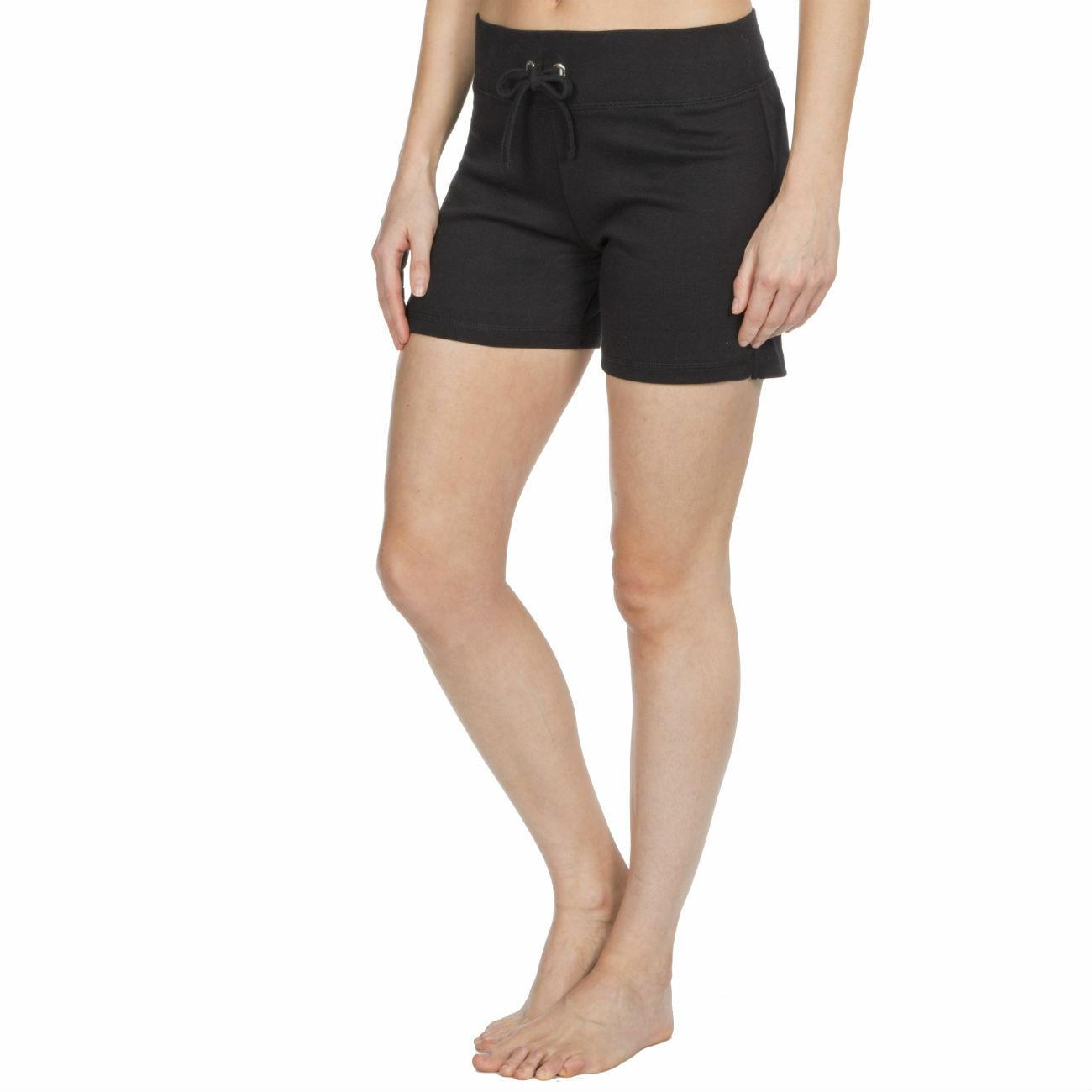 Womens-Cotton-Jersey-Shorts-Elastic-Waist-Summer-Beach-Casual-Yoga-Hot-Pants-New thumbnail 4