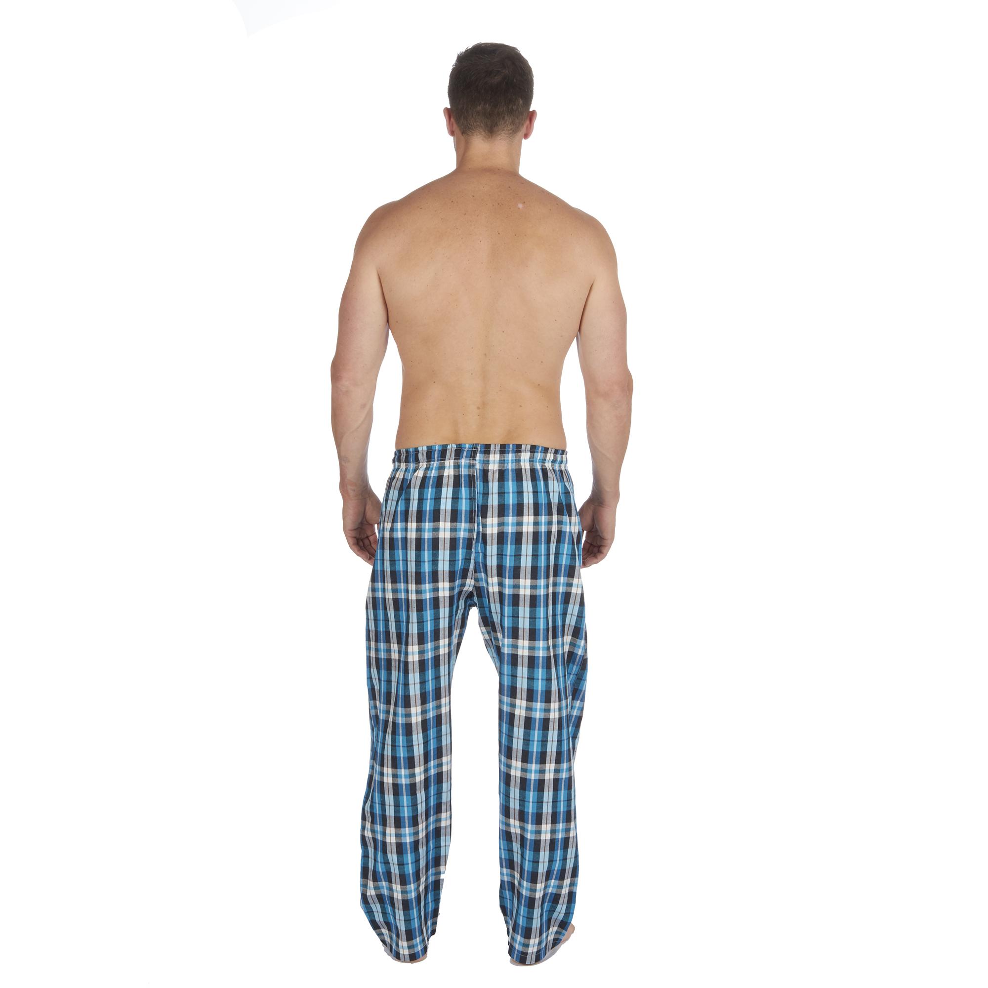 Jason-Jones-Homme-Carreaux-Tisse-Pyjama-Pantalon-en-Coton-Melange-Serge-PJ-Lounge-Pants miniature 22
