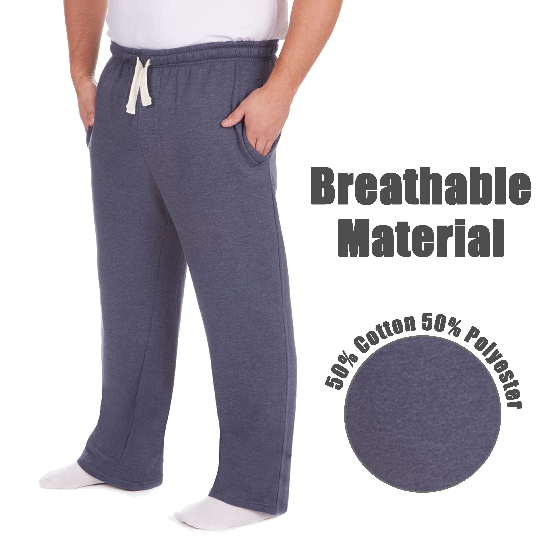 Men-039-s-Plus-Size-Jogging-Bottoms-Sudare-Pantaloni-Da-Jogging-Pantaloni-Orlo-a-manichetta-taglia miniatura 17