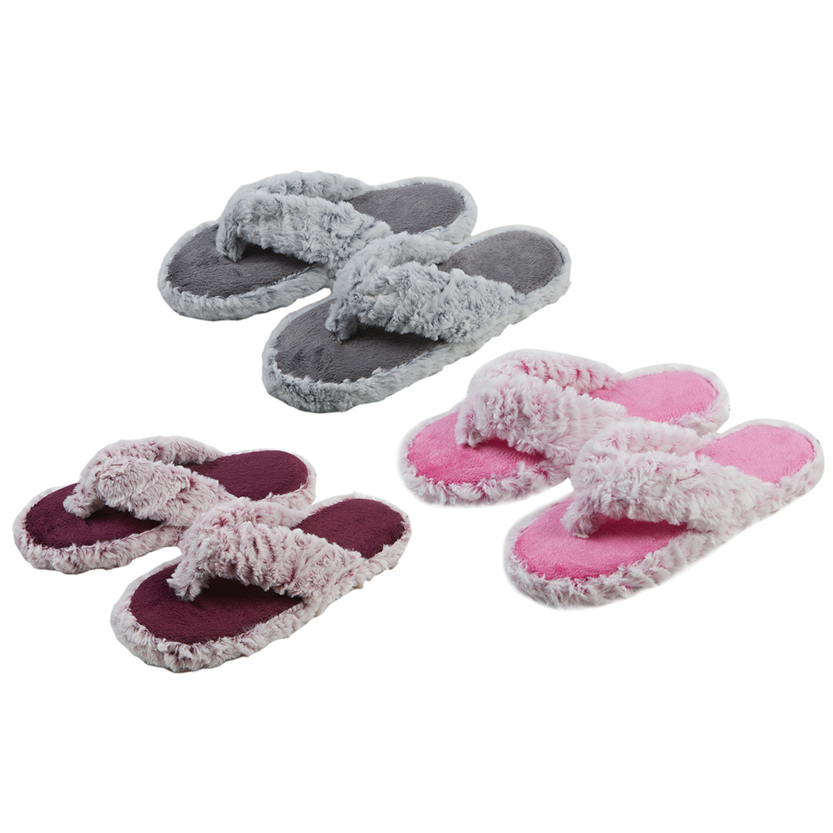 huge sale buy popular to buy Details about Girls Kids Faux Fur Flip Flops Slippers Open Toe Mules Soft  Comfy Size 10-2 UK
