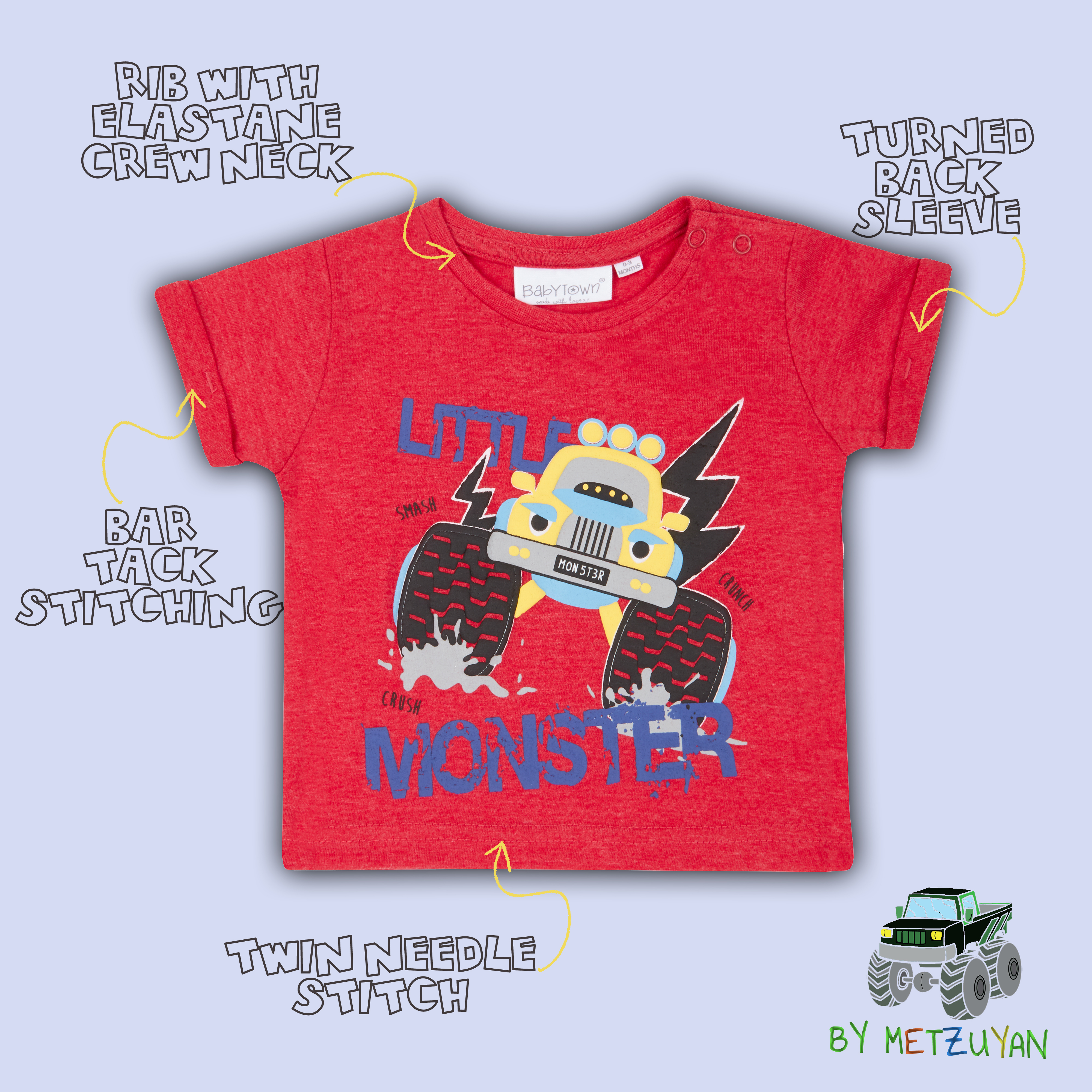 Baby Boys T-Shirt Newborn Toddler Printed Top Dino Lion Car 0 3 6 9 12 18 24 Mth