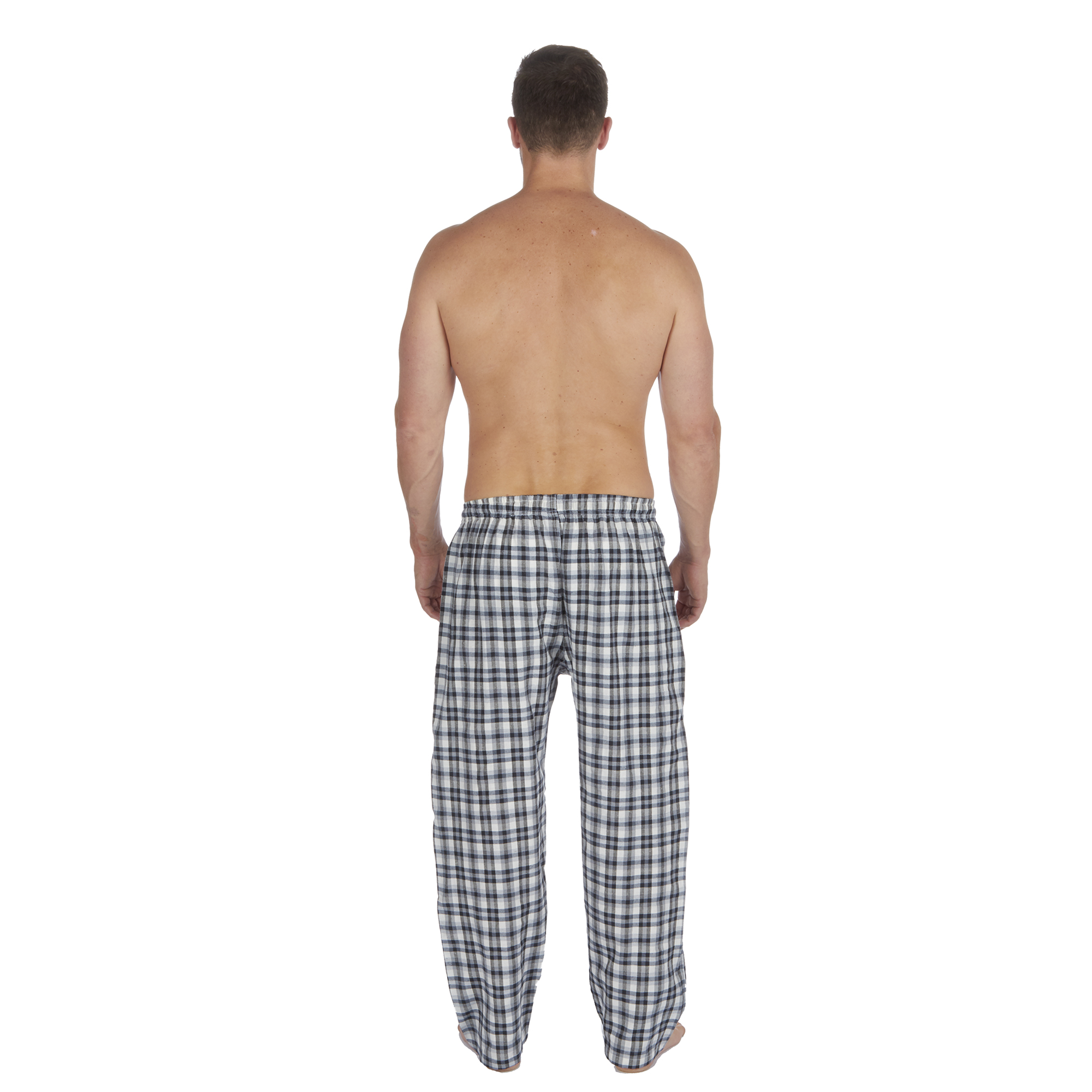Jason-Jones-Homme-Carreaux-Tisse-Pyjama-Pantalon-en-Coton-Melange-Serge-PJ-Lounge-Pants miniature 5