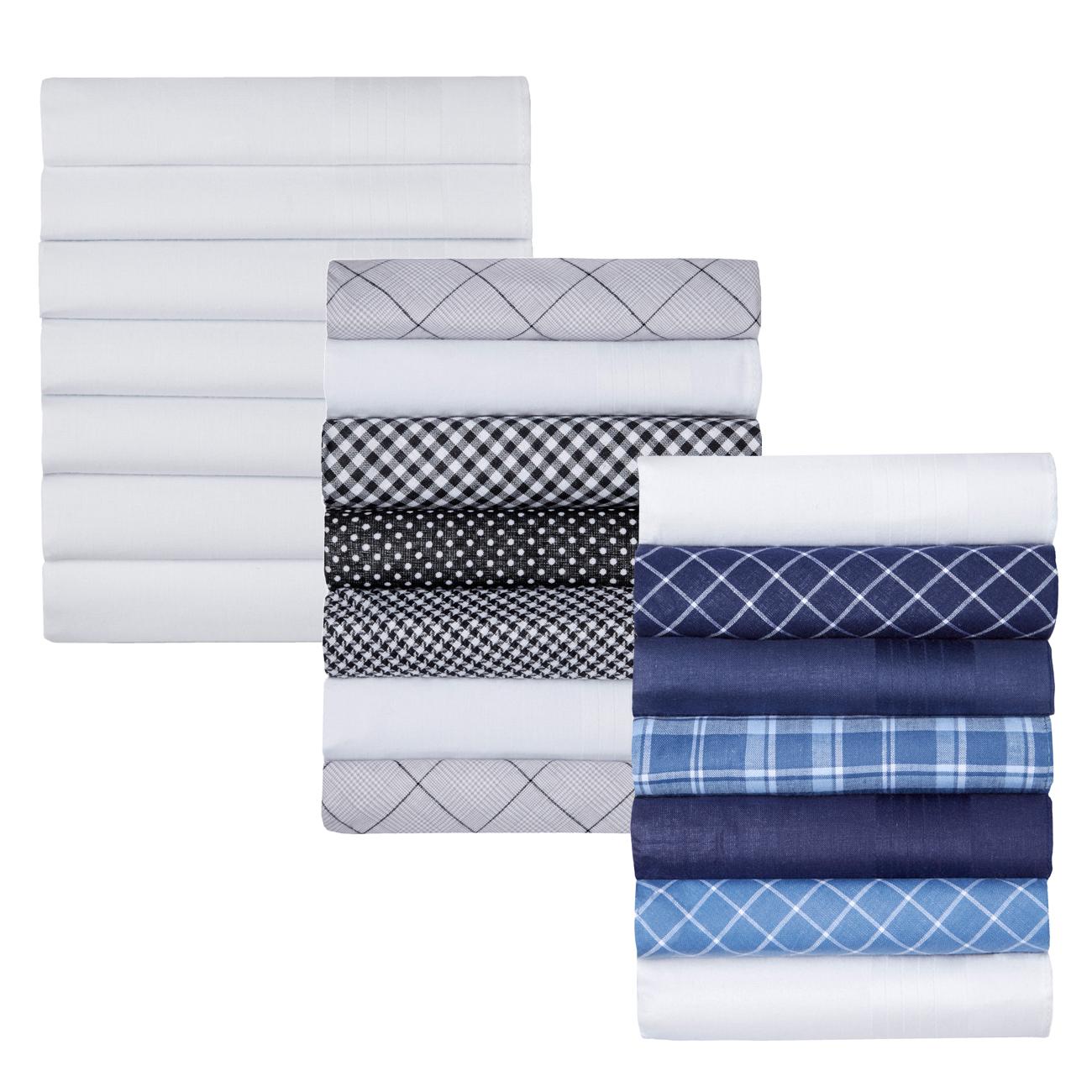 ! 7 BOX Men's 100/% Cotton Tartan 7 Handkerchiefs In Gift Box