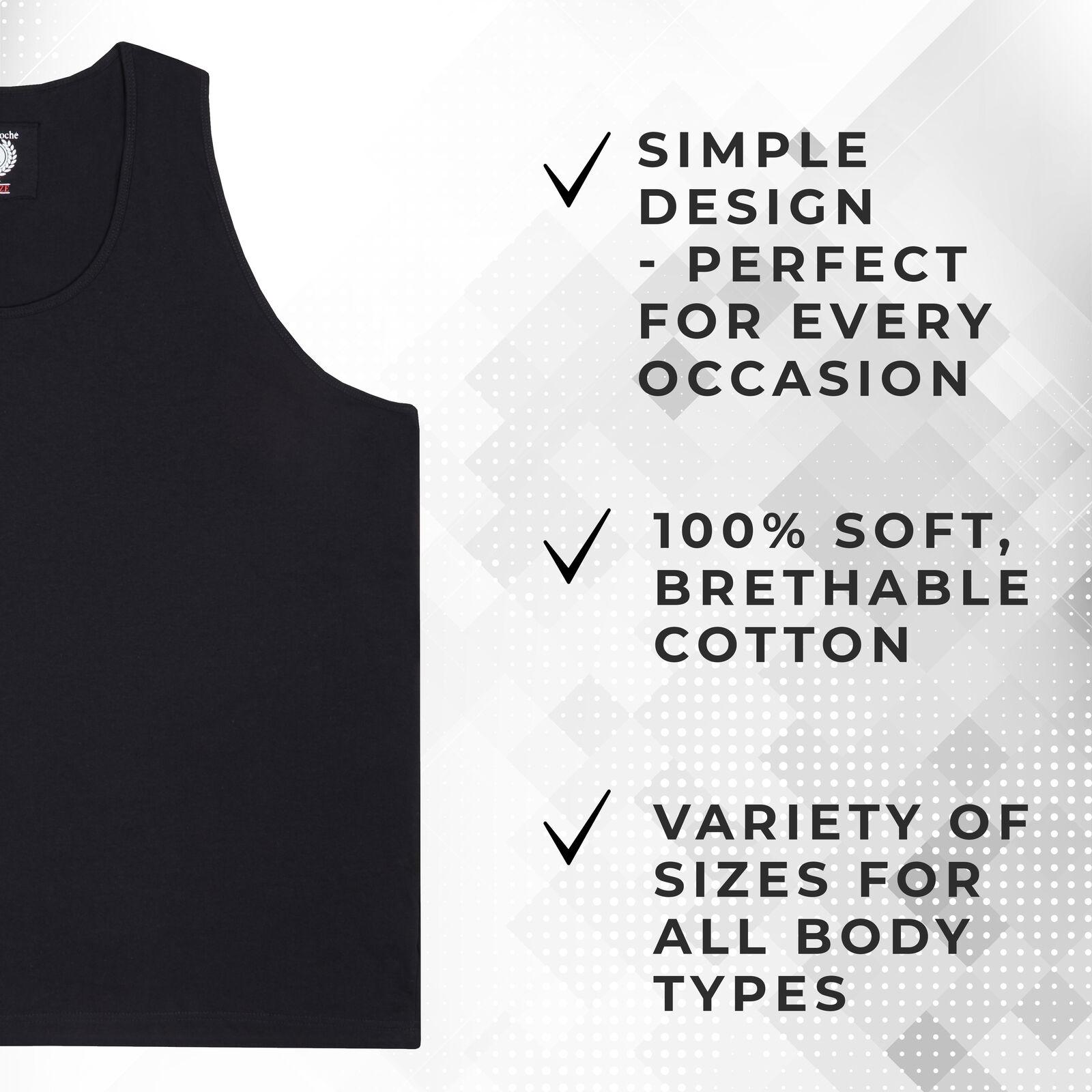 Metzuyan Plus Size Gym Cotton Sport Vest Tank Top Training
