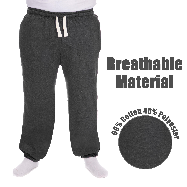 Men-039-s-Plus-Size-Jogging-Bottoms-Sudare-Pantaloni-Da-Jogging-Pantaloni-Orlo-a-manichetta-taglia miniatura 21