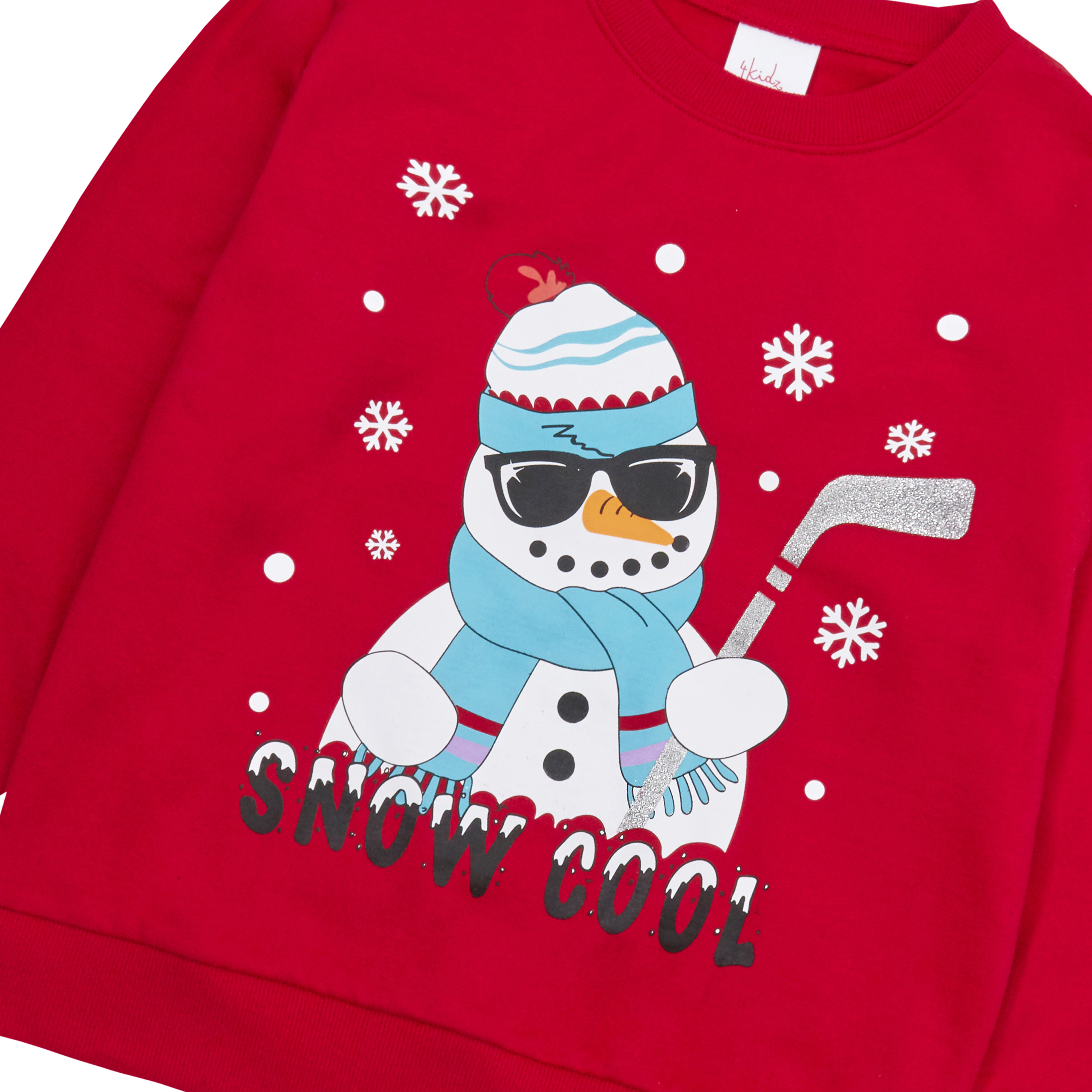 Enfants-Garcons-Filles-Noel-Noel-Pull-Sweat-shirt-Carlin-Glitter-chaud miniature 19