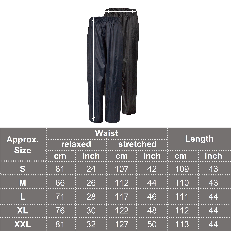Mens-Waterproof-Water-Rain-Resitant-Pants-Bottoms-Overtrousers-Motorbike-S-XXL miniatuur 6
