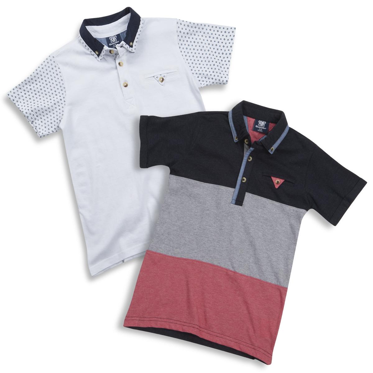 Babytown Baby Boys Short Sleeve Polo Shirt Button Down Collar