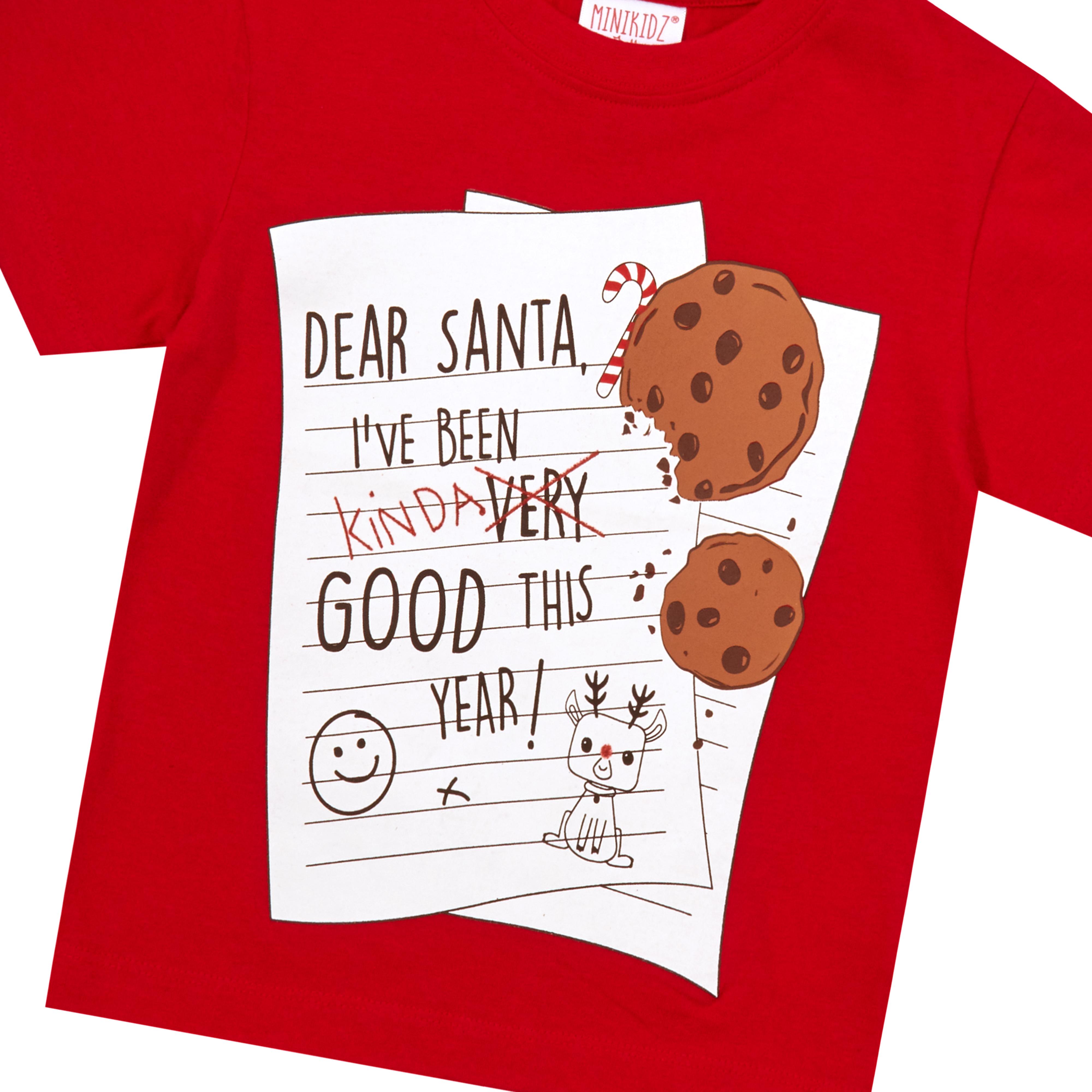 Childrens-Girls-Boys-Xmas-T-Shirts-Printed-Christmas-Design-100-Cotton-2-13-Yrs thumbnail 22