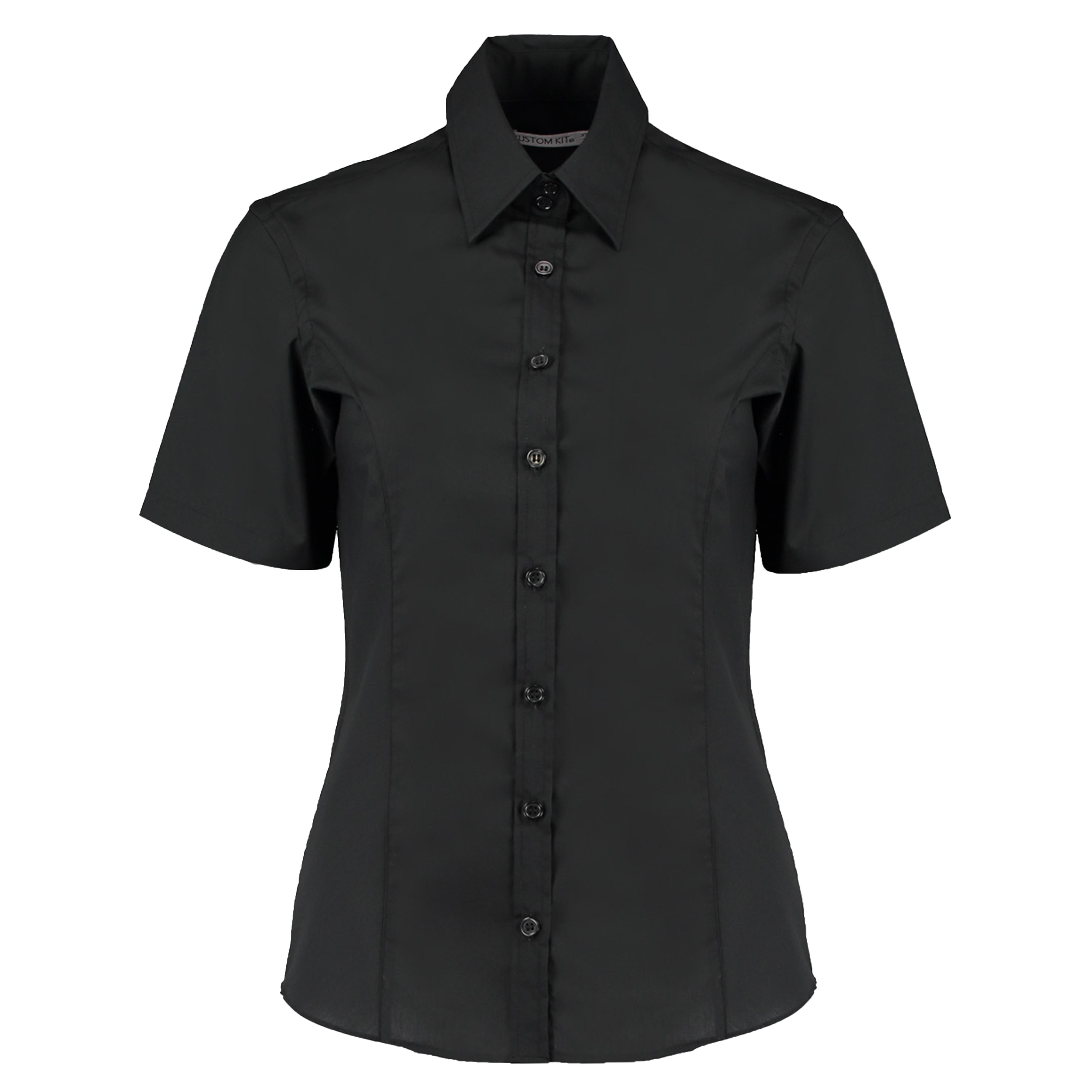 Kustom Kit Womens Ladies Plain Long Sleeved Shirt Work Formal Office Business Tailored Fit