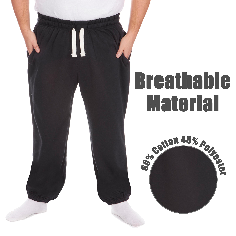 Men-039-s-Plus-Size-Jogging-Bottoms-Sudare-Pantaloni-Da-Jogging-Pantaloni-Orlo-a-manichetta-taglia miniatura 19