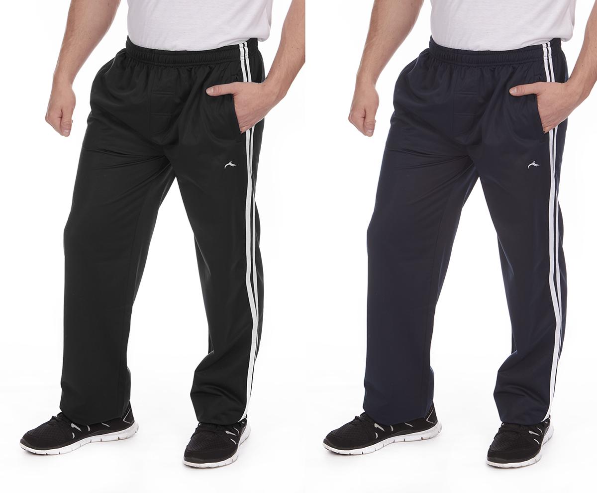 Mens Casual Joggers Tracksuit Bottoms Jogging Pants Sweatpants Silky Gym Trouser