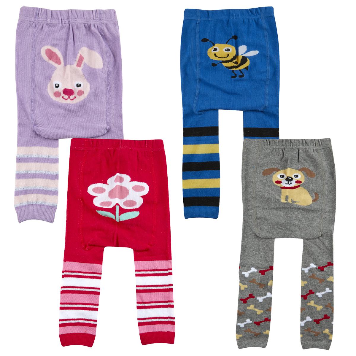 2 Pack Baby Babies Panel Leggings Footless Tights Printed Design ...
