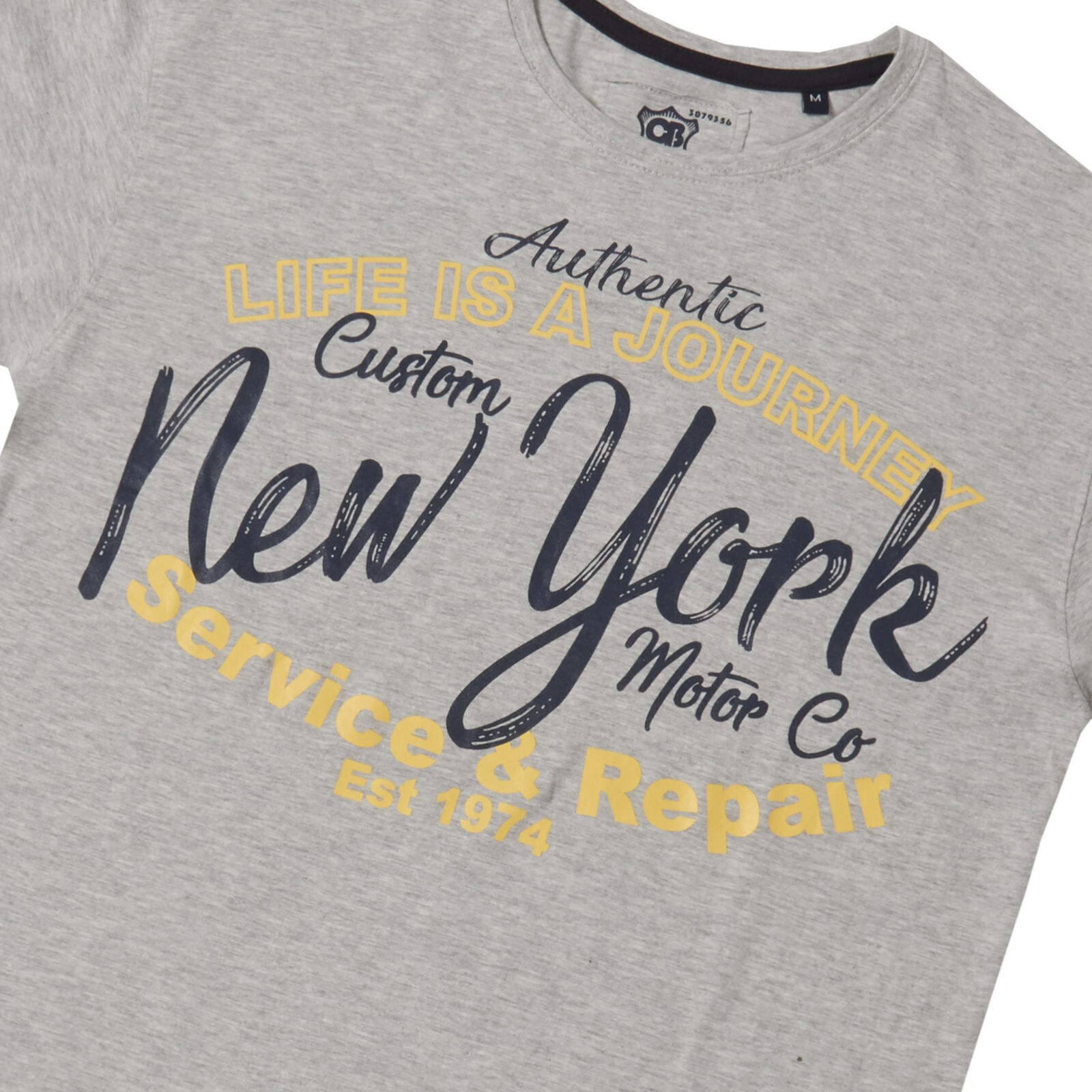 Nouveau Homme Imprimé Graphique T-shirt à encolure ras-du-cou à Manches Courtes Top Classique 100/% coton