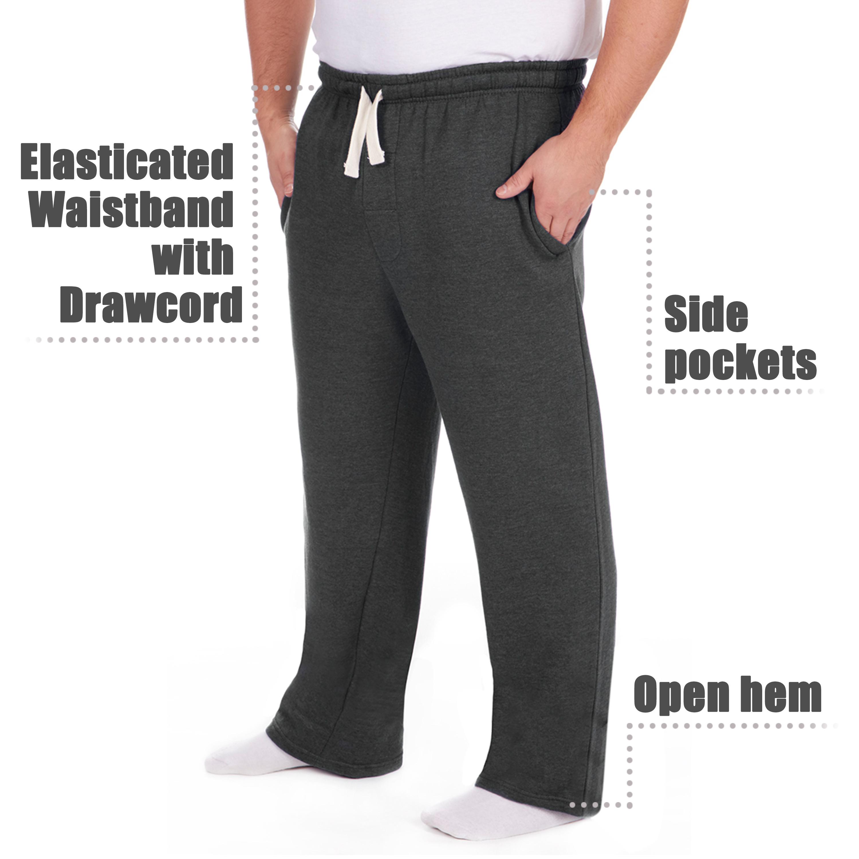 Men-039-s-Plus-Size-Jogging-Bottoms-Sudare-Pantaloni-Da-Jogging-Pantaloni-Orlo-a-manichetta-taglia miniatura 13