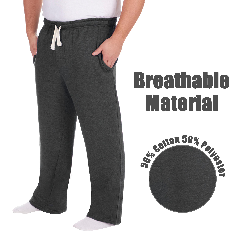 Men-039-s-Plus-Size-Jogging-Bottoms-Sudare-Pantaloni-Da-Jogging-Pantaloni-Orlo-a-manichetta-taglia miniatura 14
