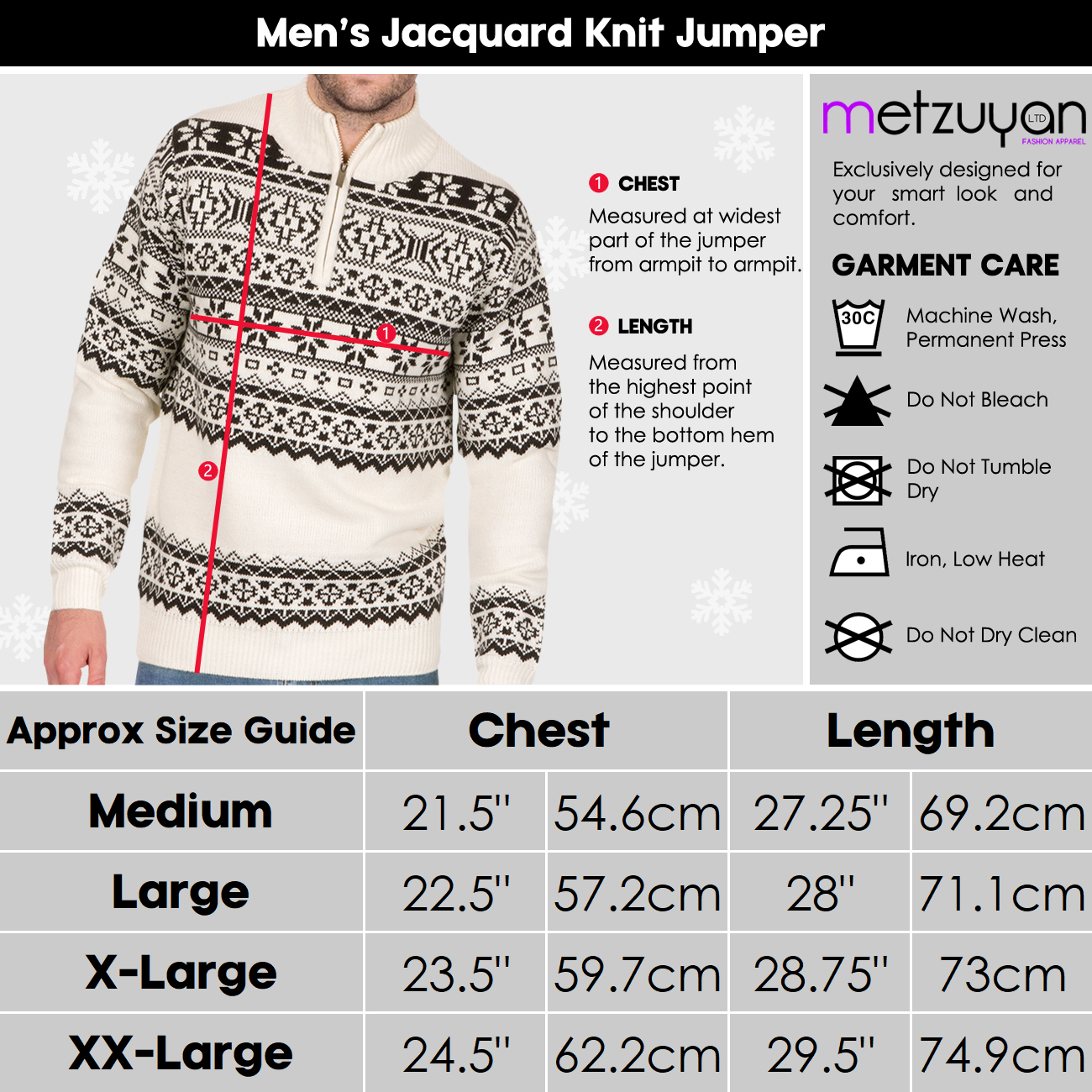 Homme-Tricot-1-4-Zip-Fermeture-Eclair-Col-Pull-Fair-Isle-Pattern-Extra-Chaud-Pull-UK miniature 6