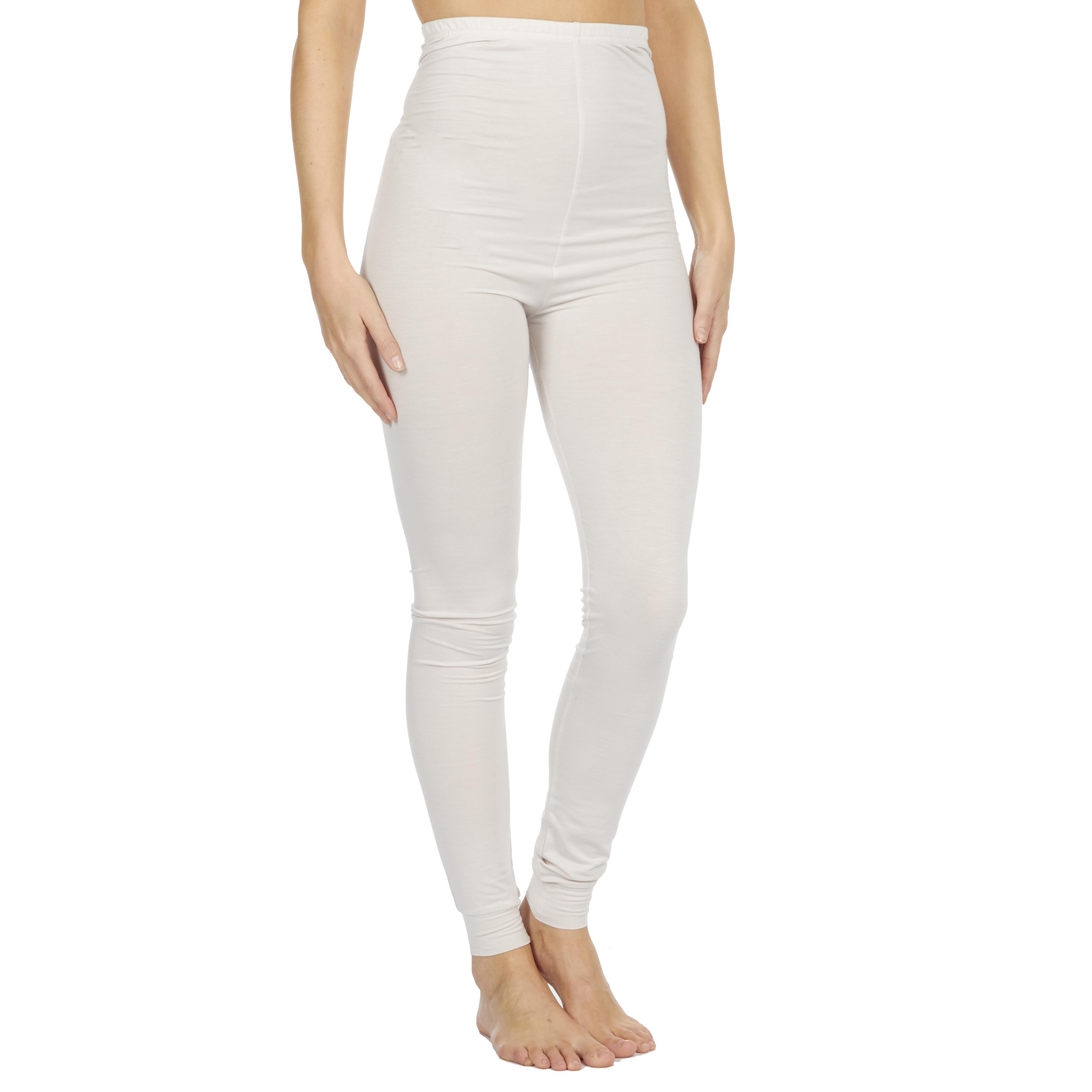 Ladies Ex Store Cream Heat Retaining Thermal Leggings Sizes S M L