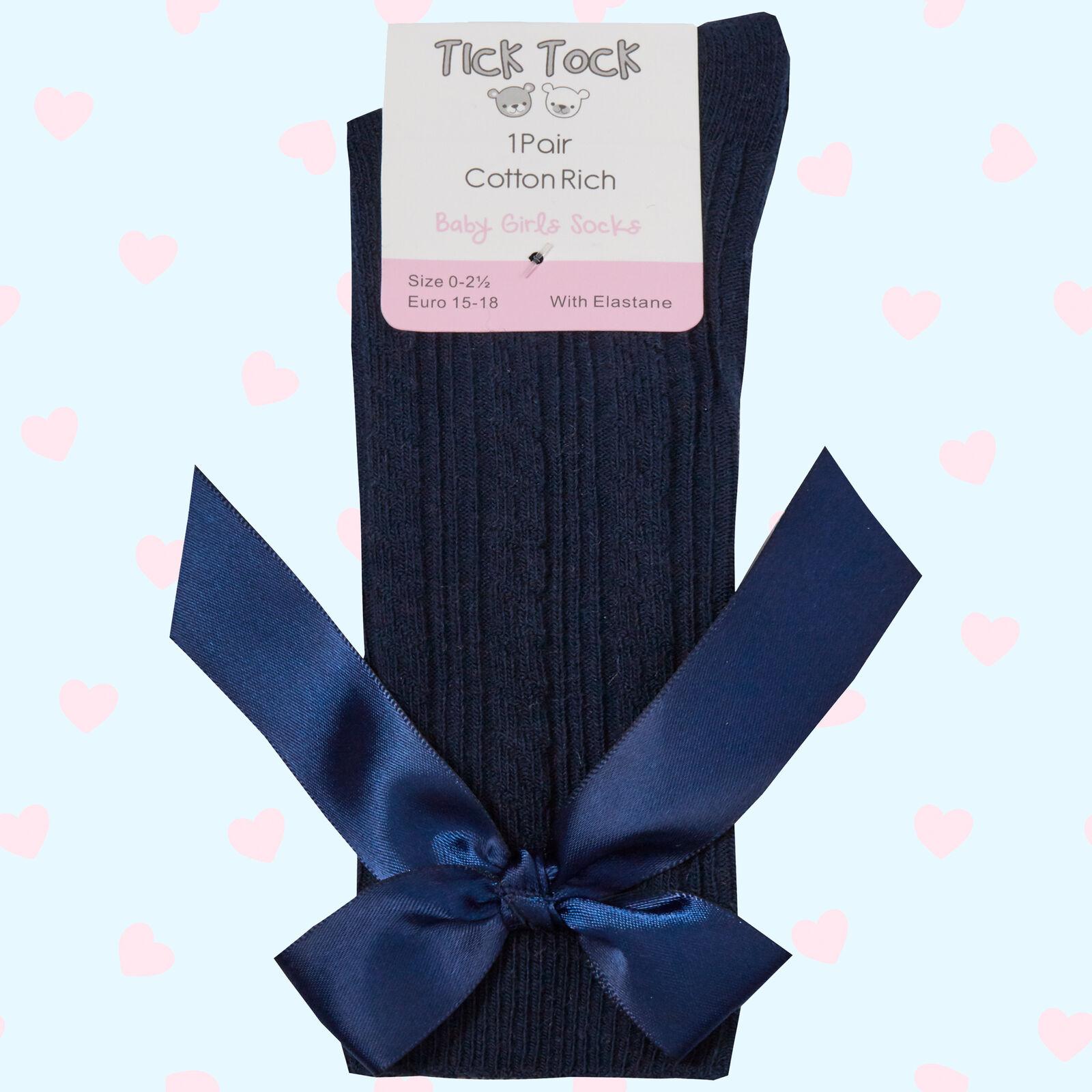 Metzuyan Baby Girls Stocking High Knee Long Socks with Bows
